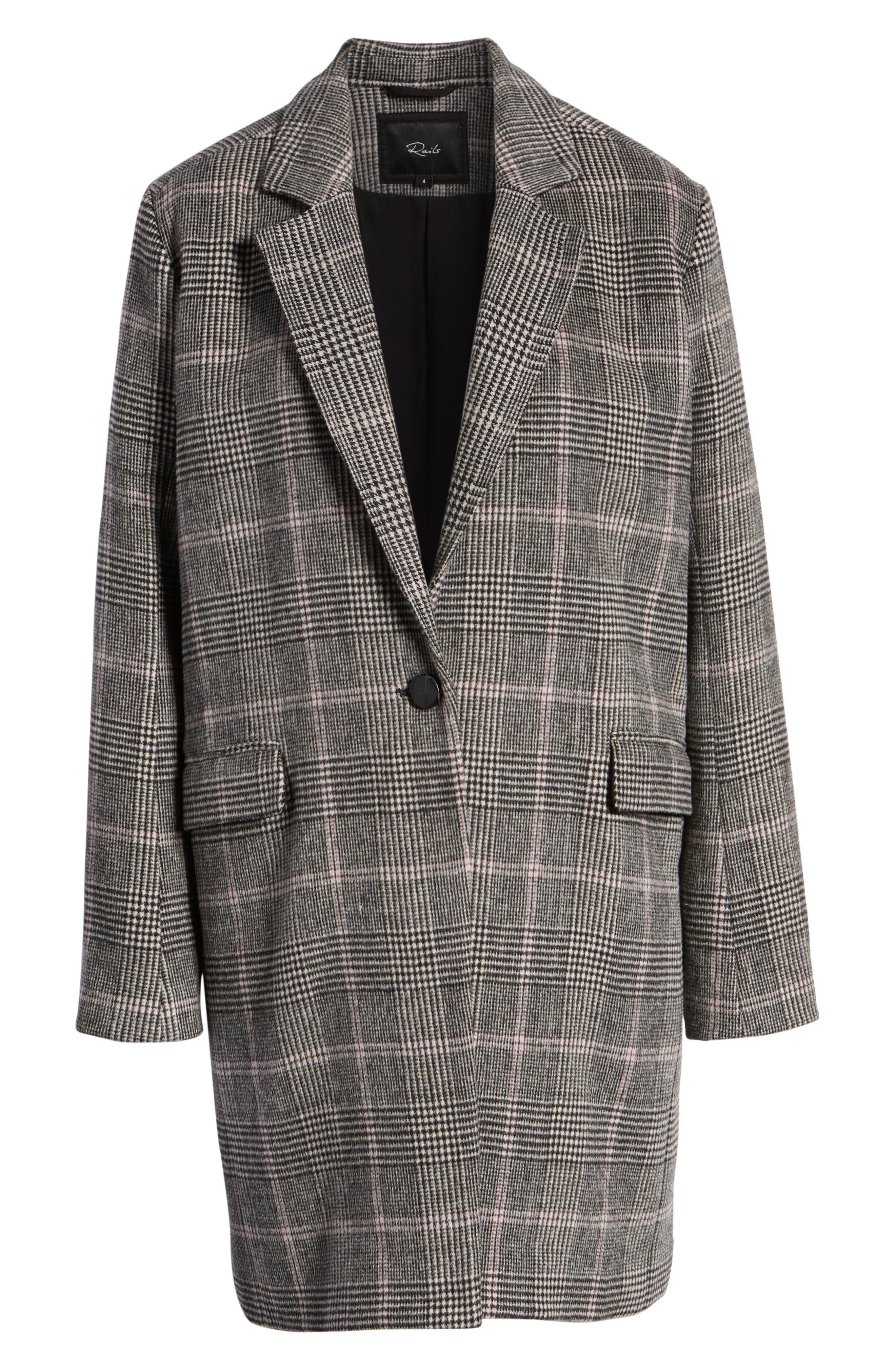 Anders Plaid Coat,                             Alternate thumbnail 7, color,                             021