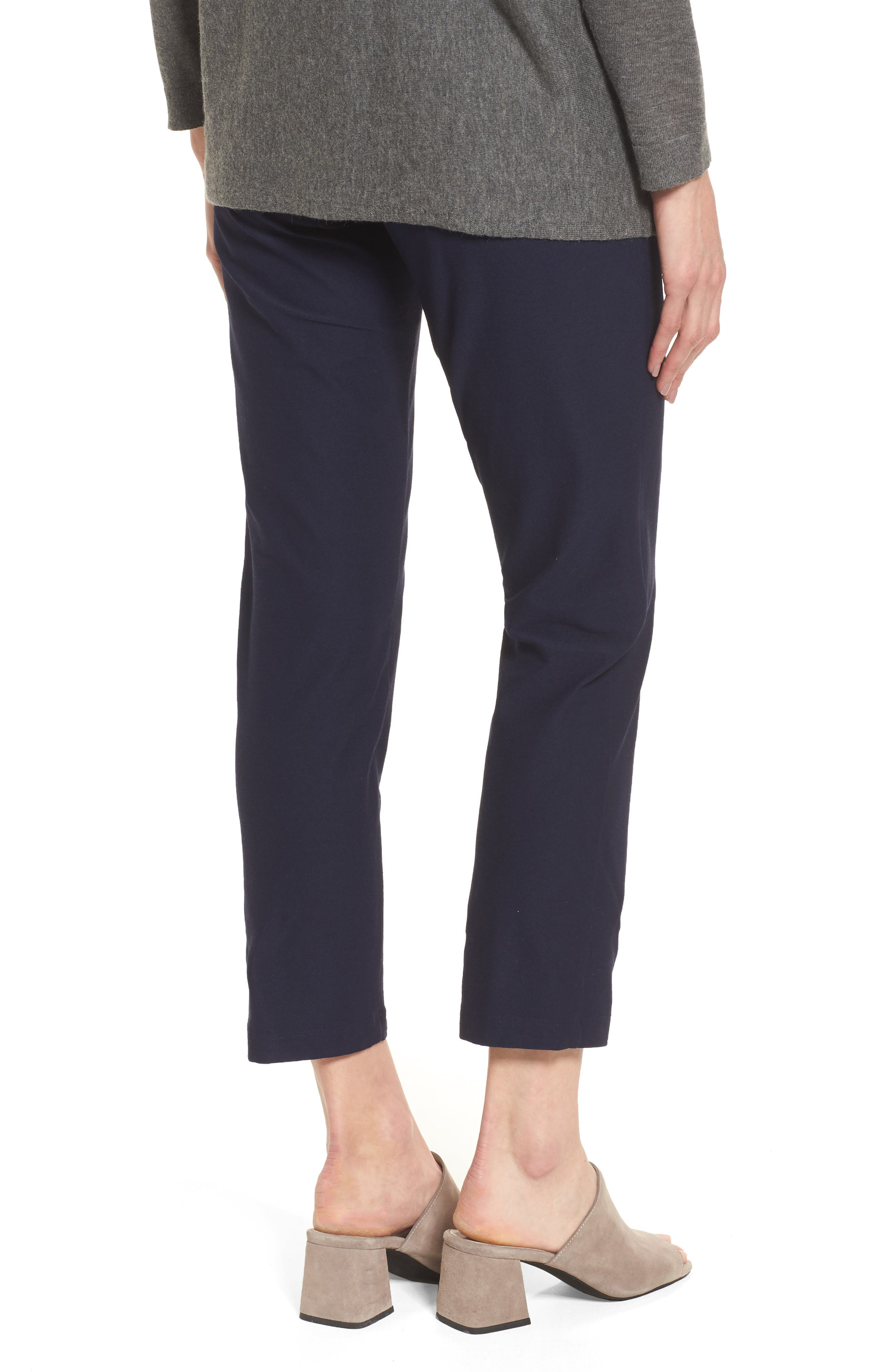 Stretch Crepe Slim Ankle Pants,                             Alternate thumbnail 2, color,                             MIDNIGHT