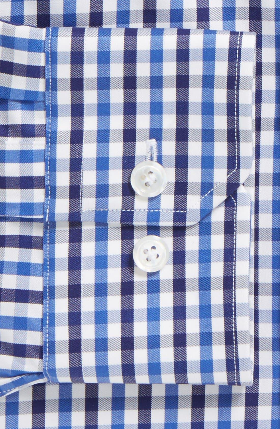 John W Nordstrom<sup>®</sup> Signature Trim Fit Check Dress Shirt,                             Alternate thumbnail 2, color,                             401