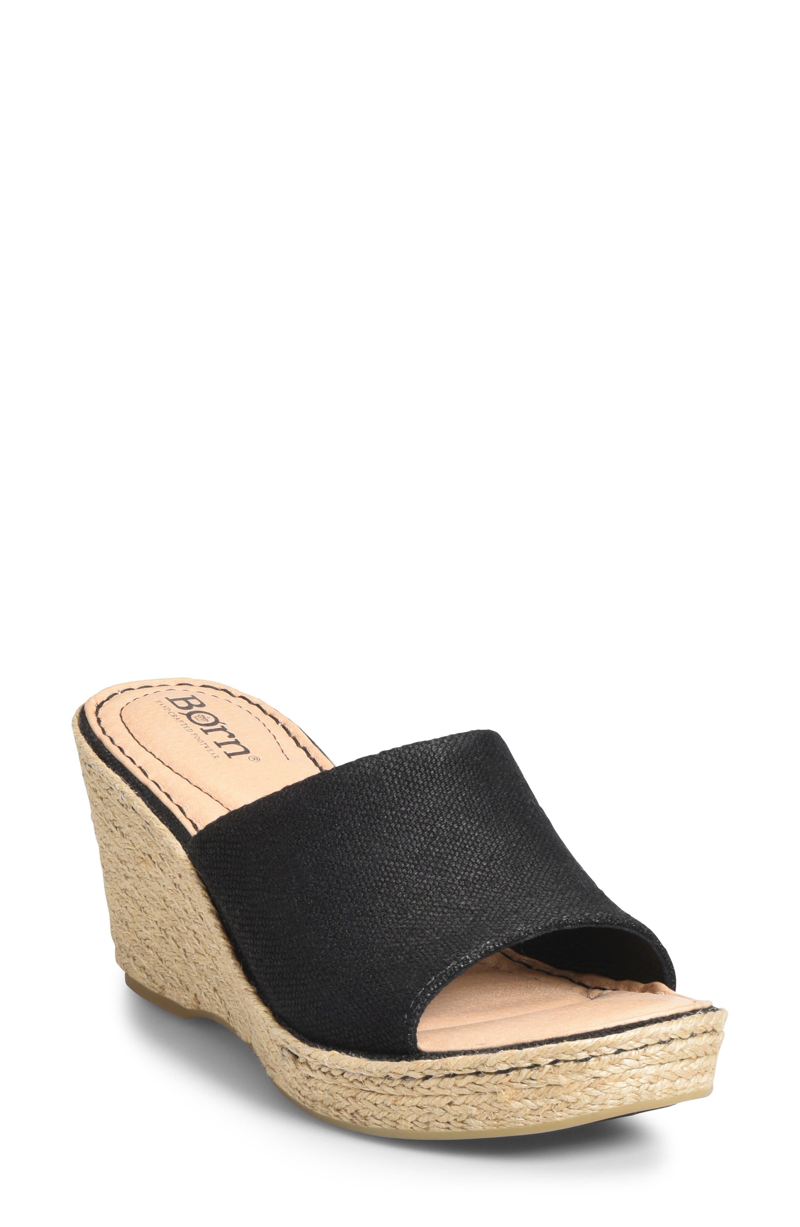 B?rn Missoula Wedge Sandal, Black