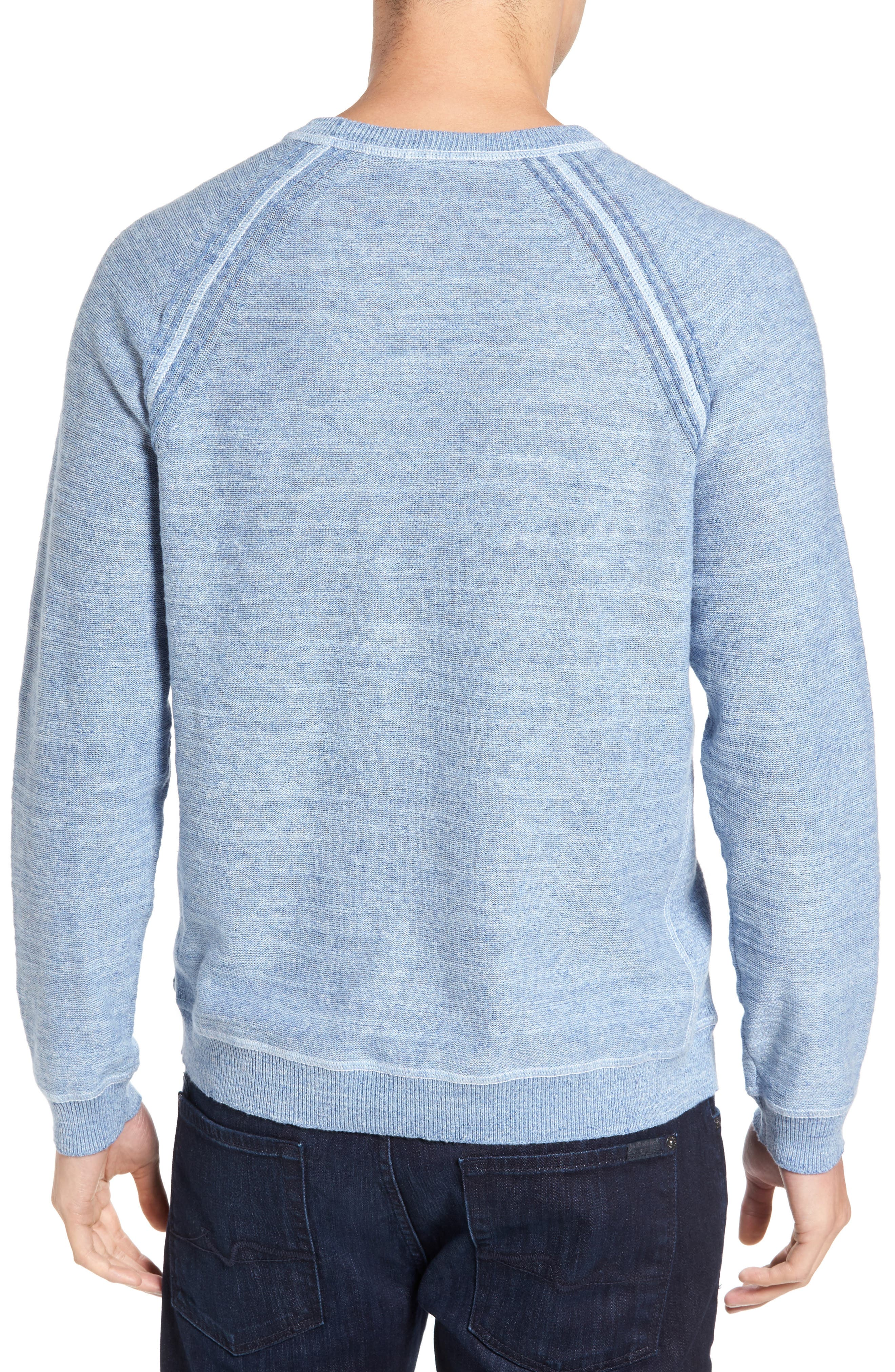 Sandy Bay Reversible Crewneck Sweater,                             Alternate thumbnail 3, color,                             100