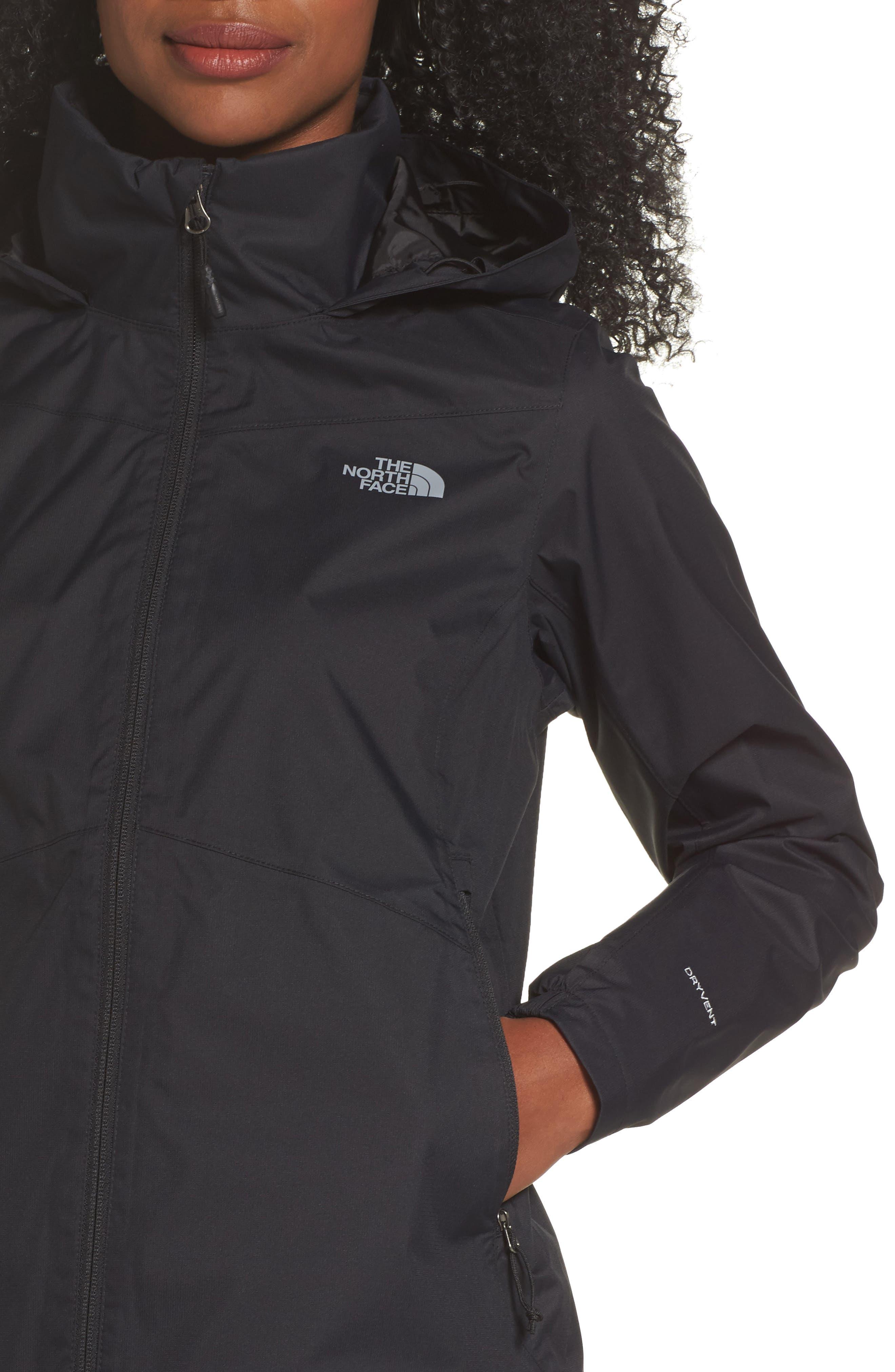 'Resolve Plus' Waterproof Jacket,                             Alternate thumbnail 4, color,                             TNF BLACK