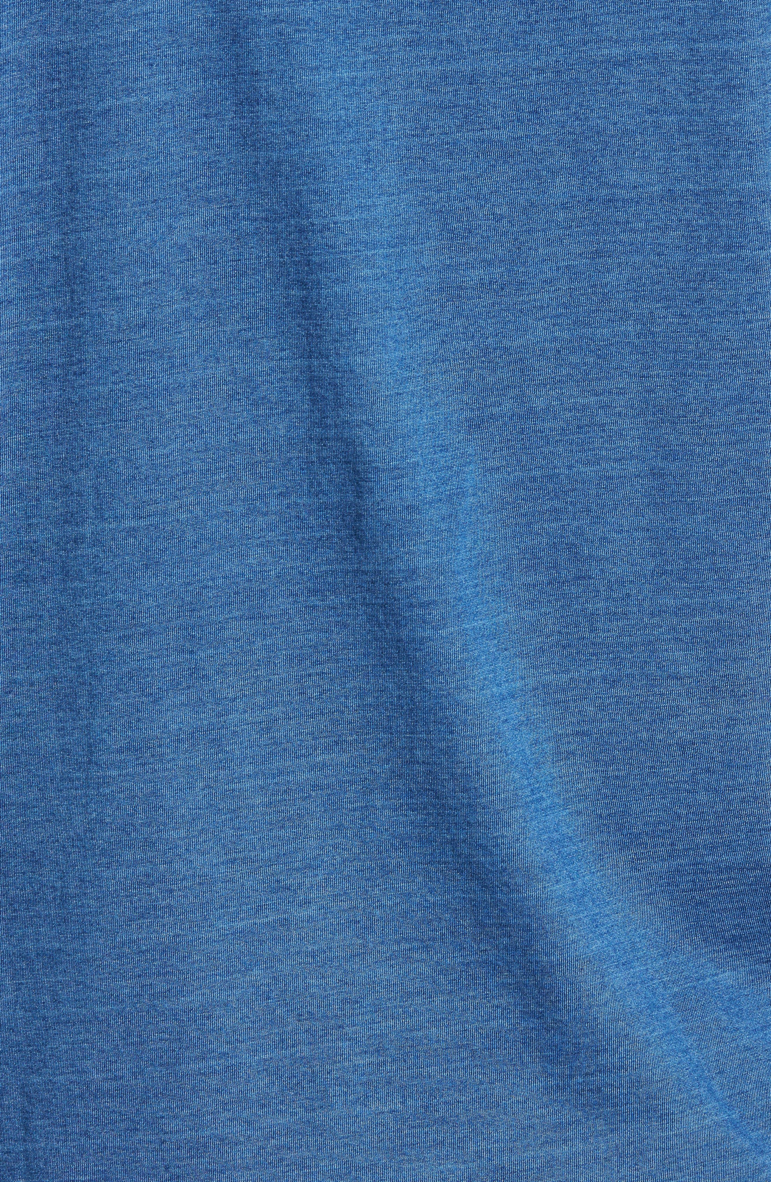 Knit Sport Shirt,                             Alternate thumbnail 5, color,                             MEDIUM INDIGO