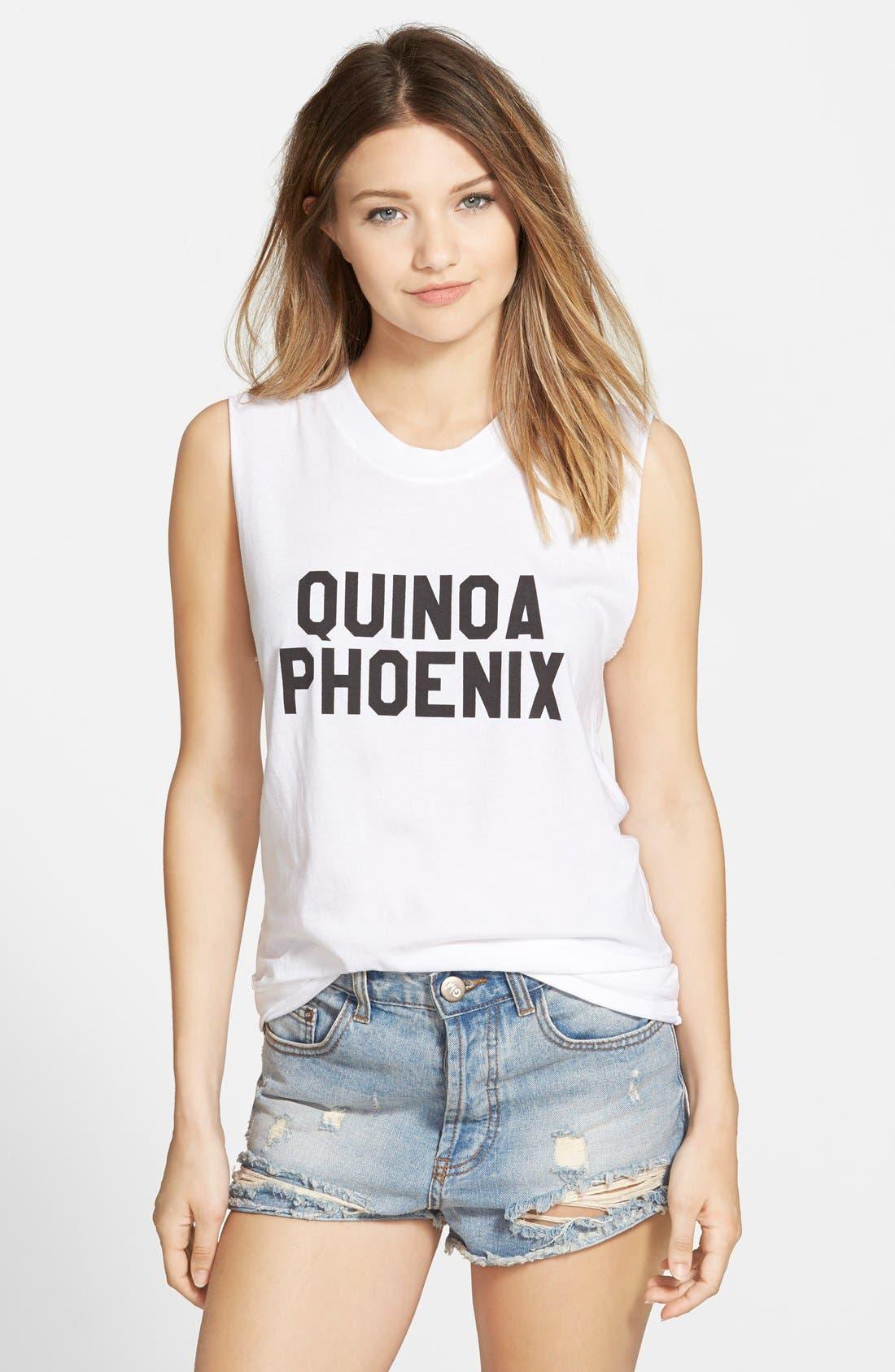 'Quinoa Phoenix' Muscle Tank,                             Main thumbnail 1, color,                             100