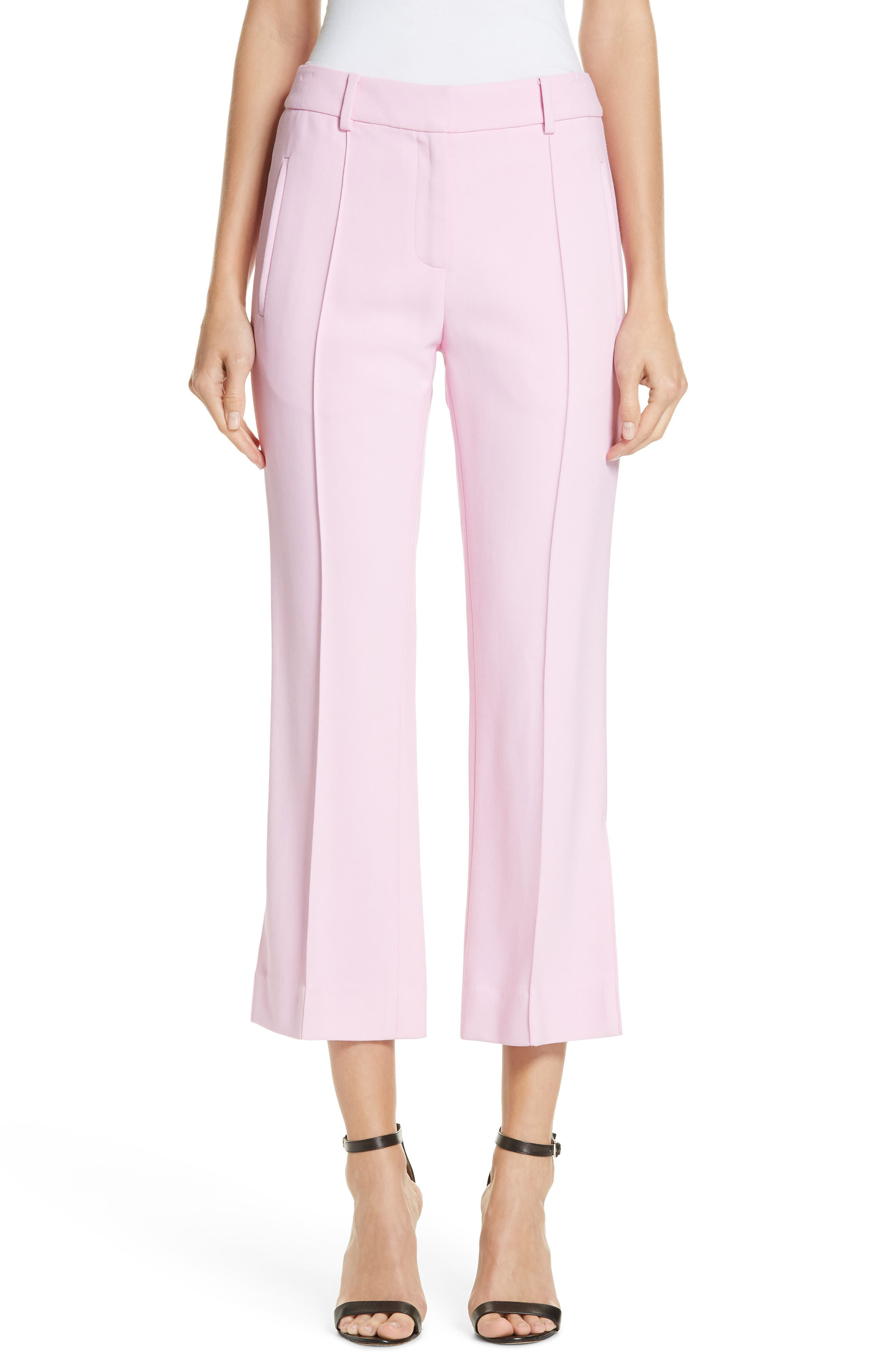 Khaite Marianne Crop Flare Pants, Pink