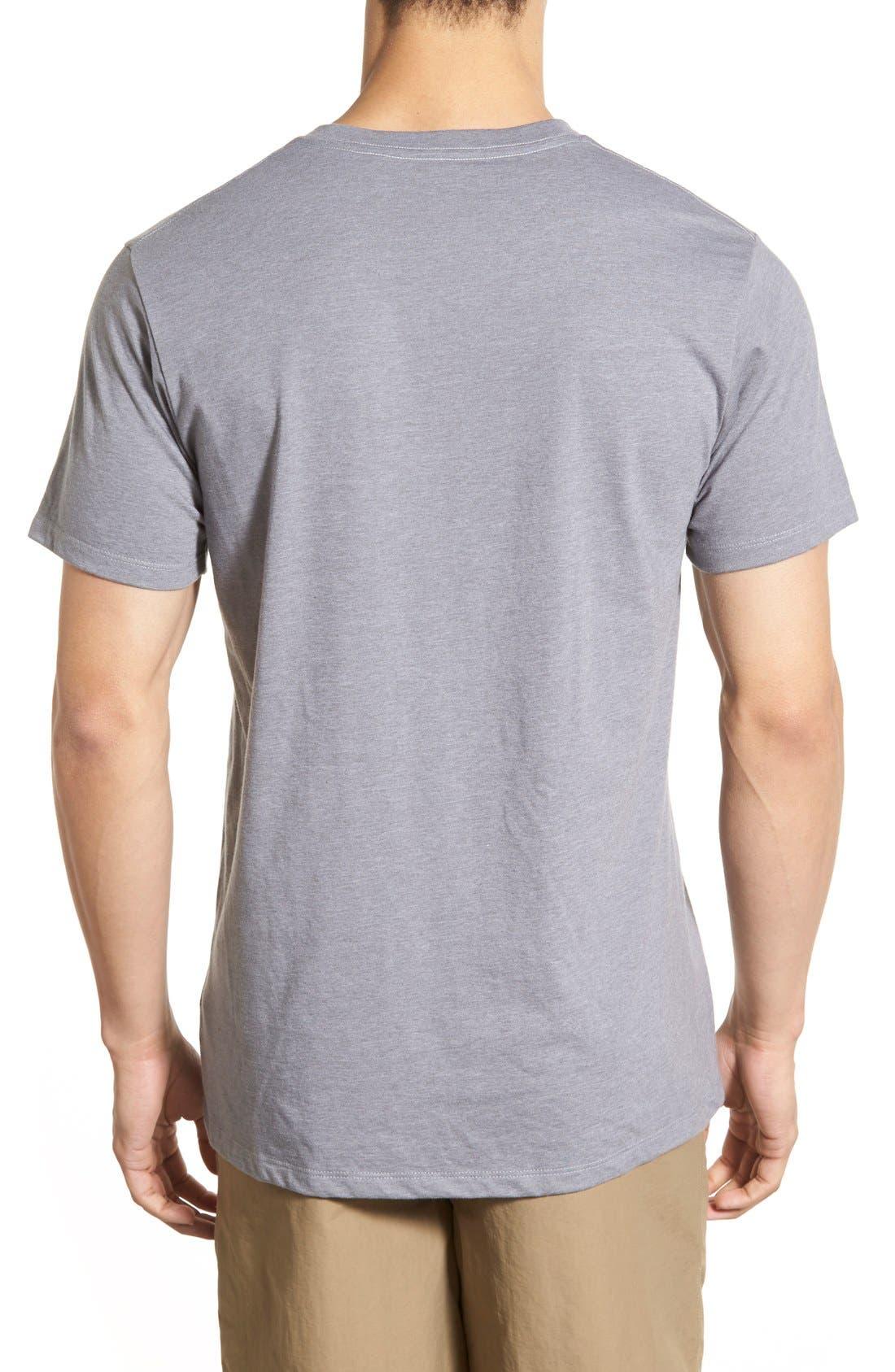 'Fitz Roy Crest' Slim Fit Organic Cotton Blend T-Shirt,                             Alternate thumbnail 18, color,