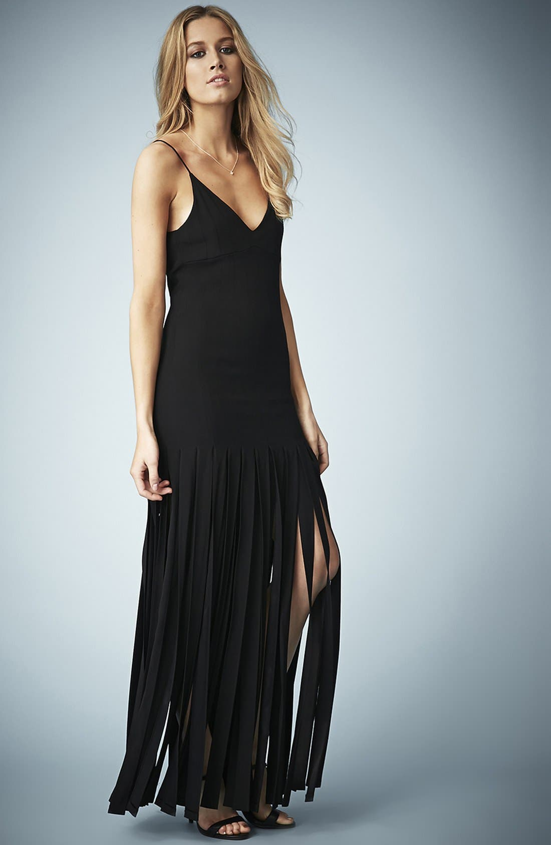 Kate Moss for Topshop Splice Skirt Maxi Dress,                             Main thumbnail 1, color,