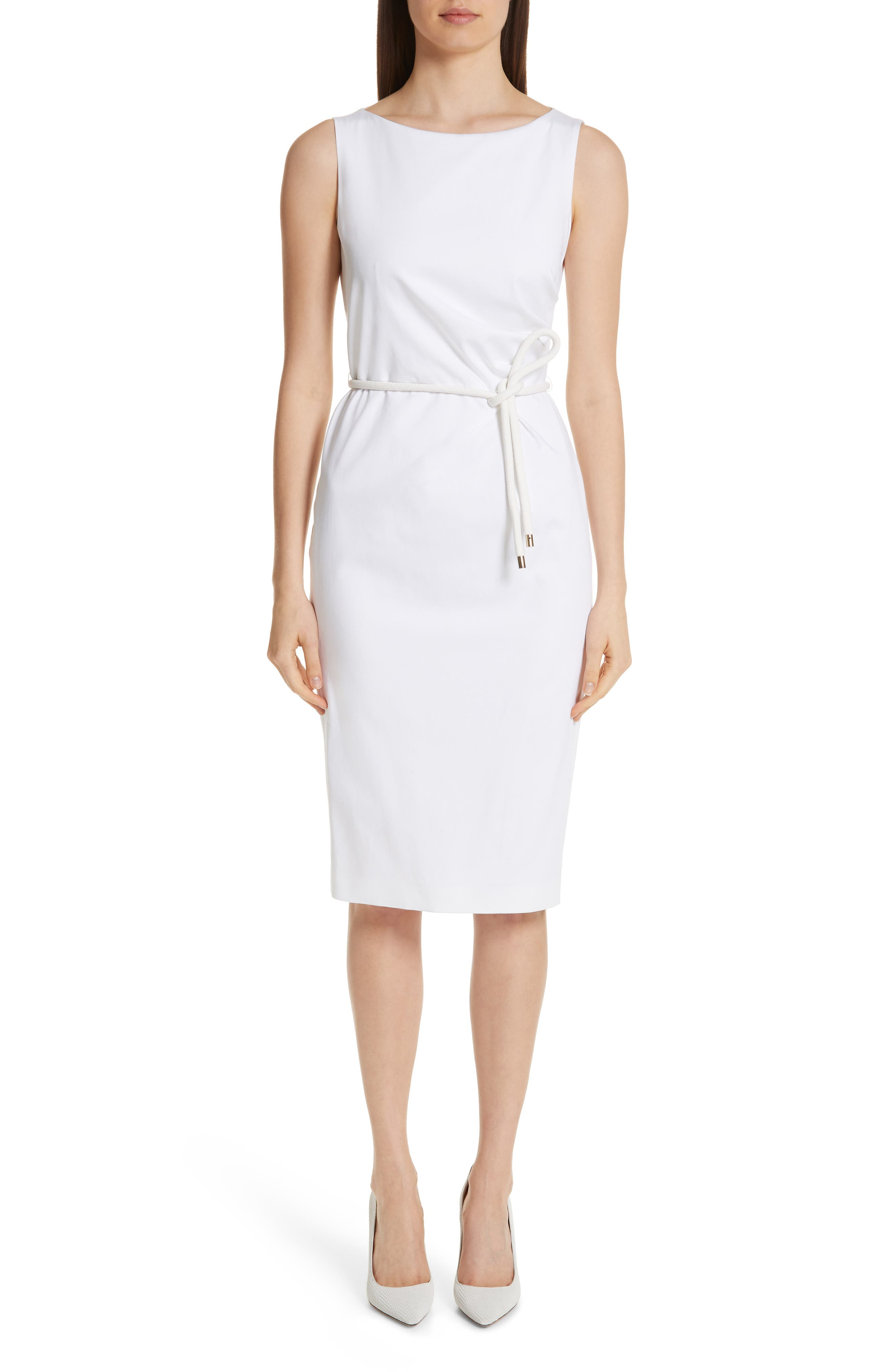 Max Mara Cordoba Sheath Dress, White