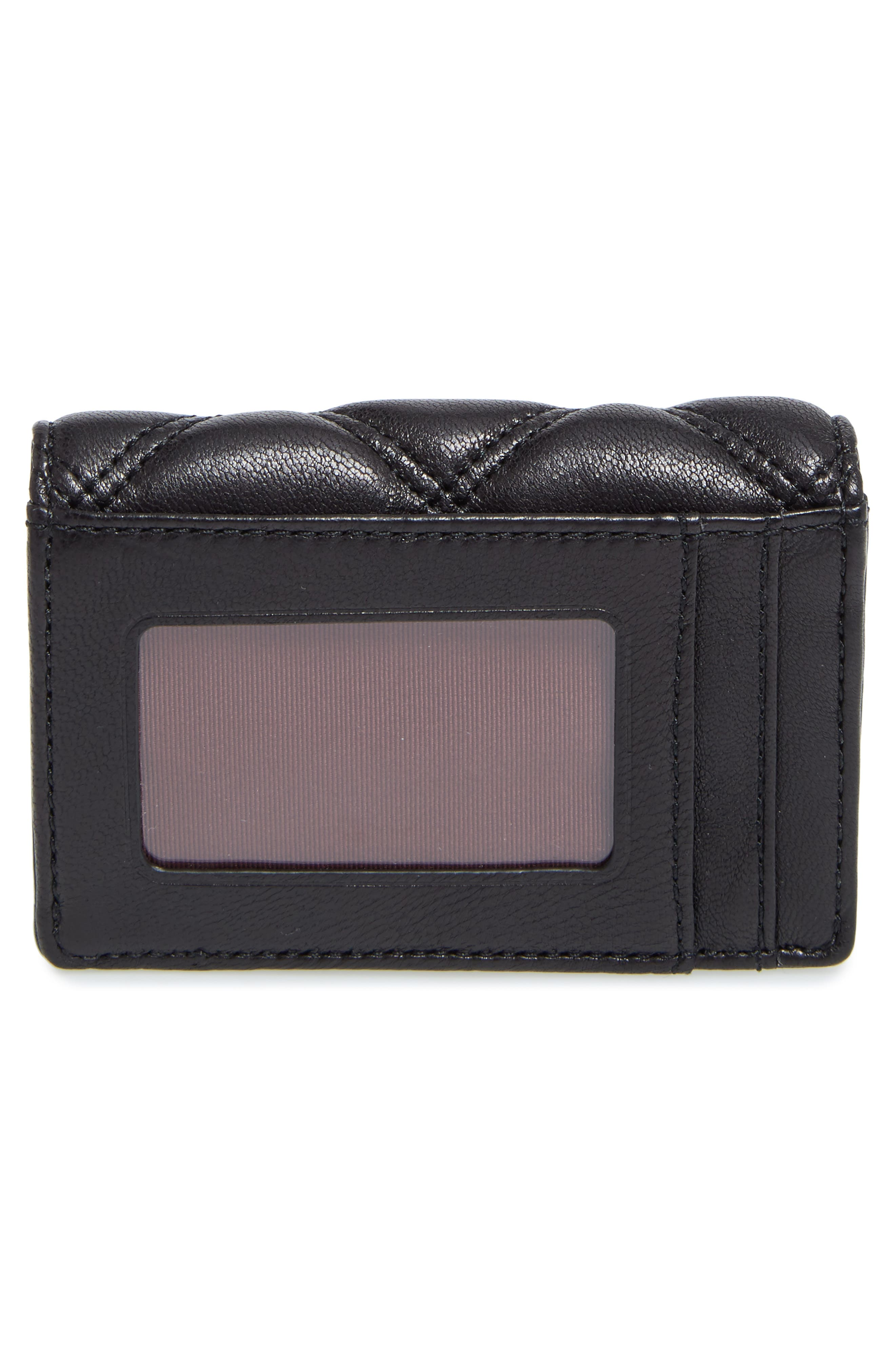 Quilted French Wallet,                             Alternate thumbnail 4, color,                             001