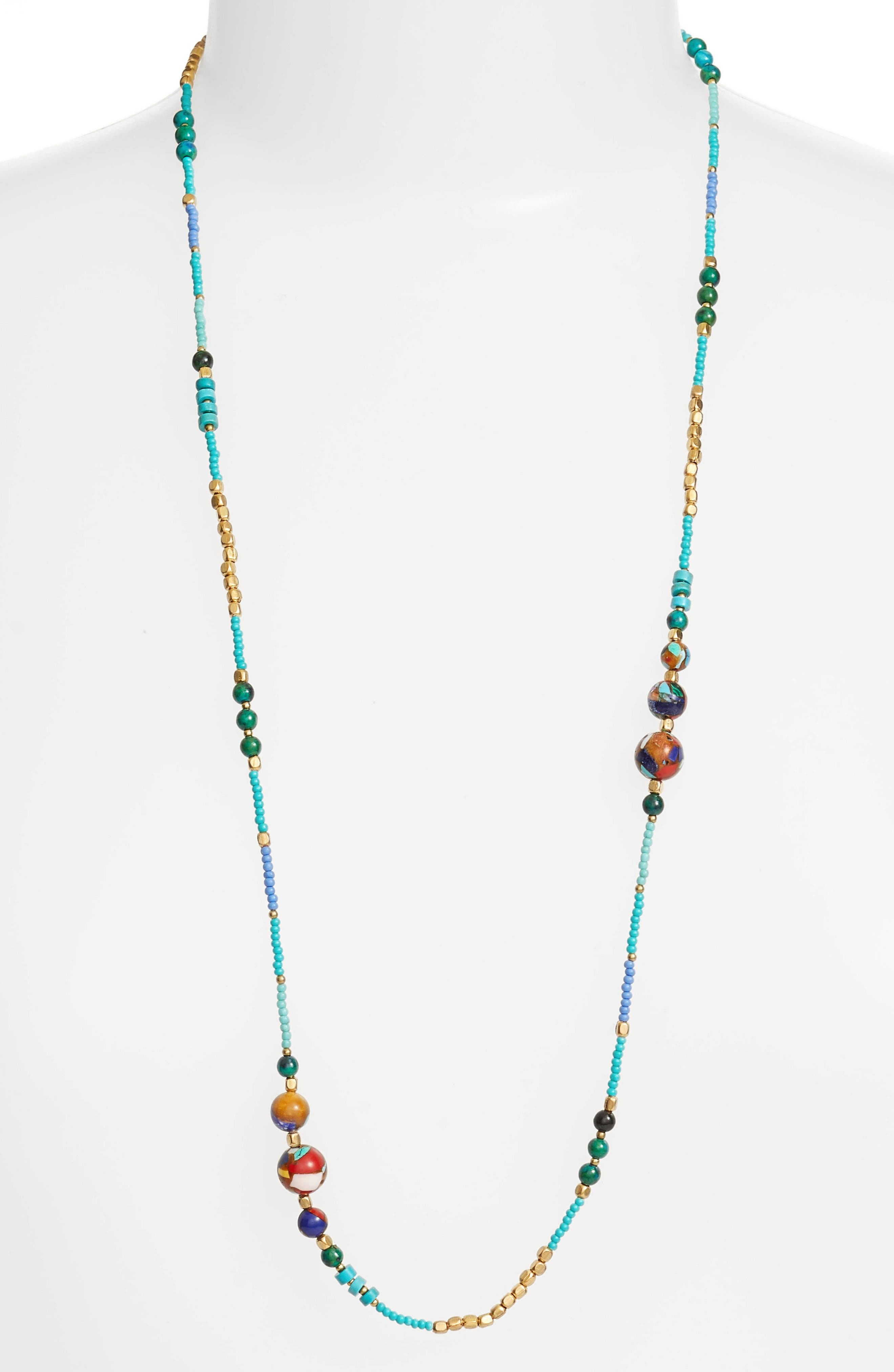 Multi Bead Necklace,                             Alternate thumbnail 2, color,                             400