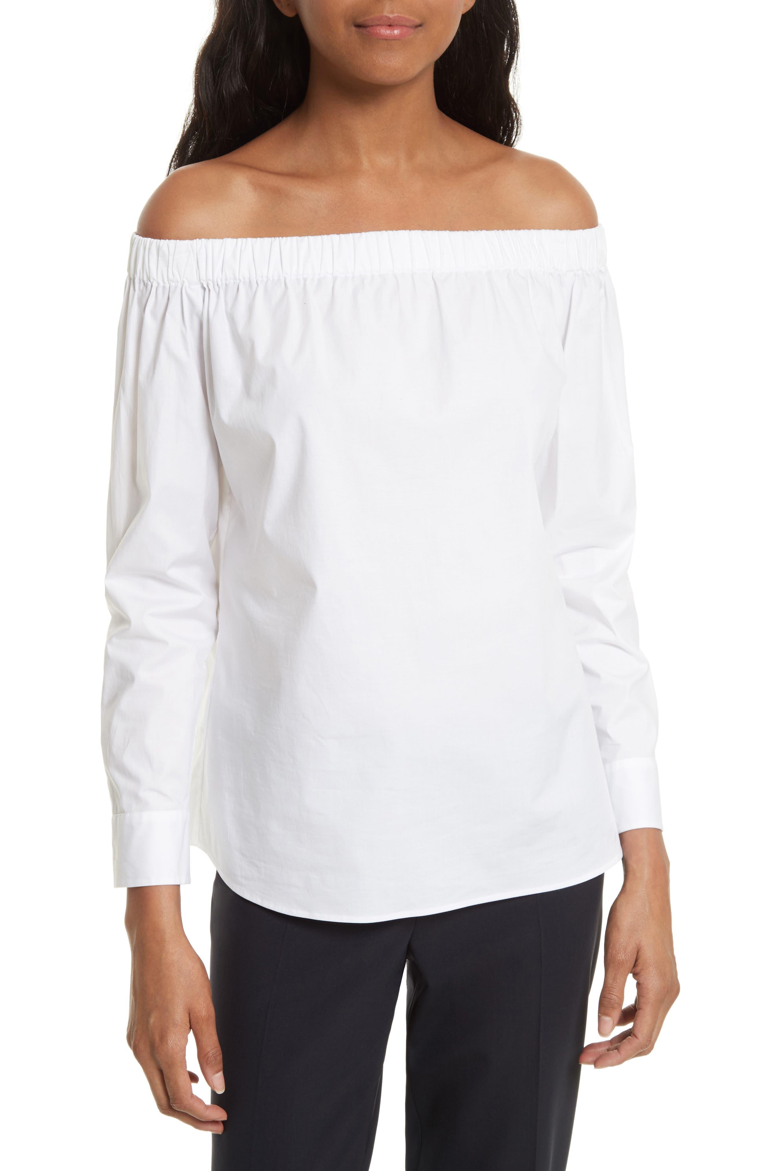 Bagiana Off the Shoulder Blouse,                         Main,                         color, 100