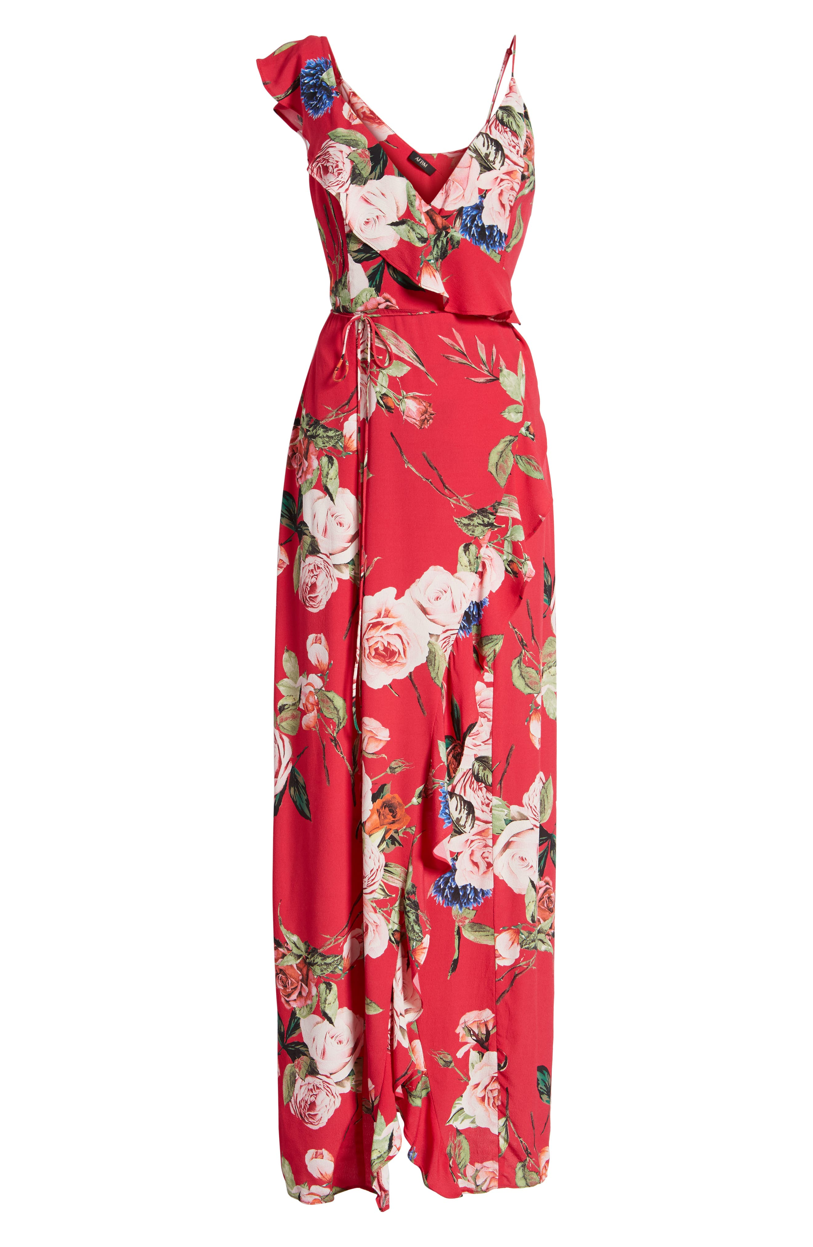 Bowen Wrap Maxi Dress,                             Alternate thumbnail 7, color,                             600
