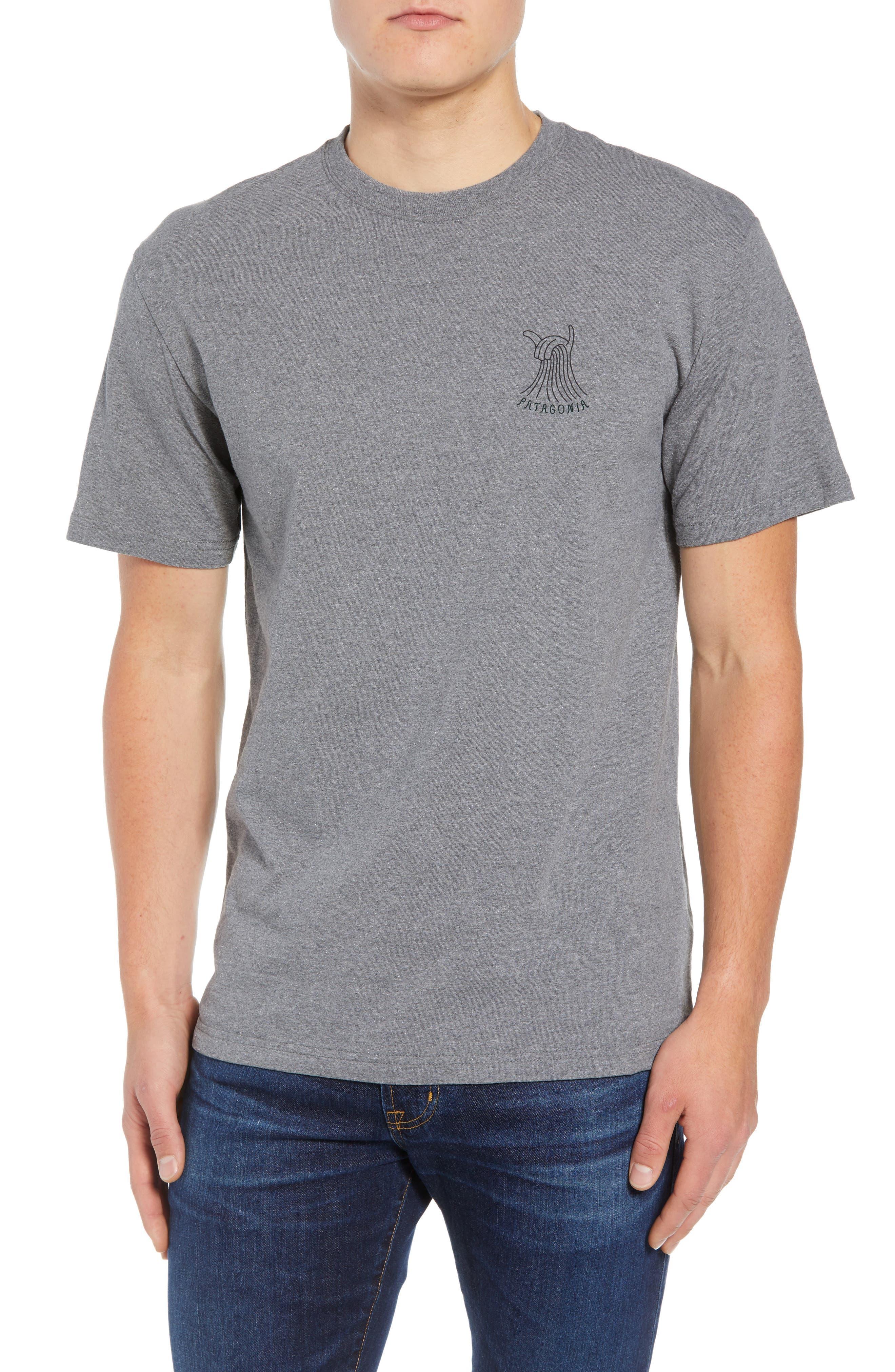Shaka Wave Slim Fit T-Shirt,                             Main thumbnail 1, color,                             GRAVEL HEATHER