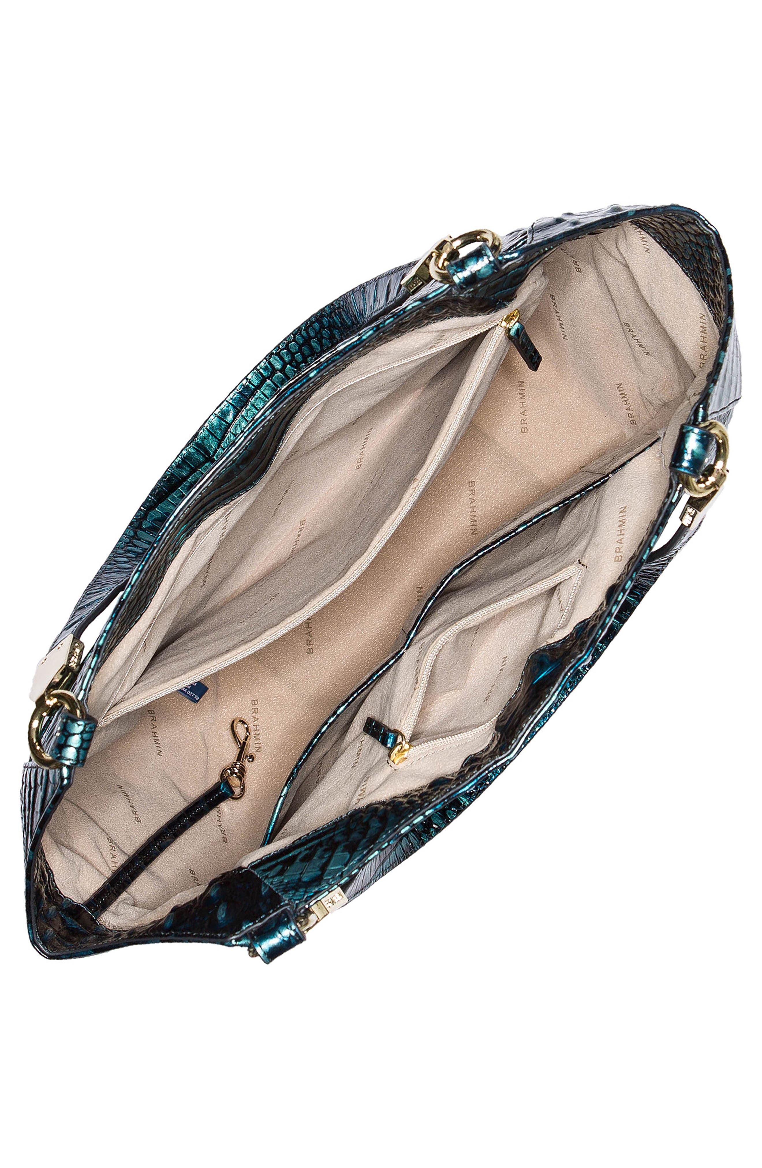 Melbourne Marianna Leather Tote,                             Alternate thumbnail 3, color,                             VERDIGRIS