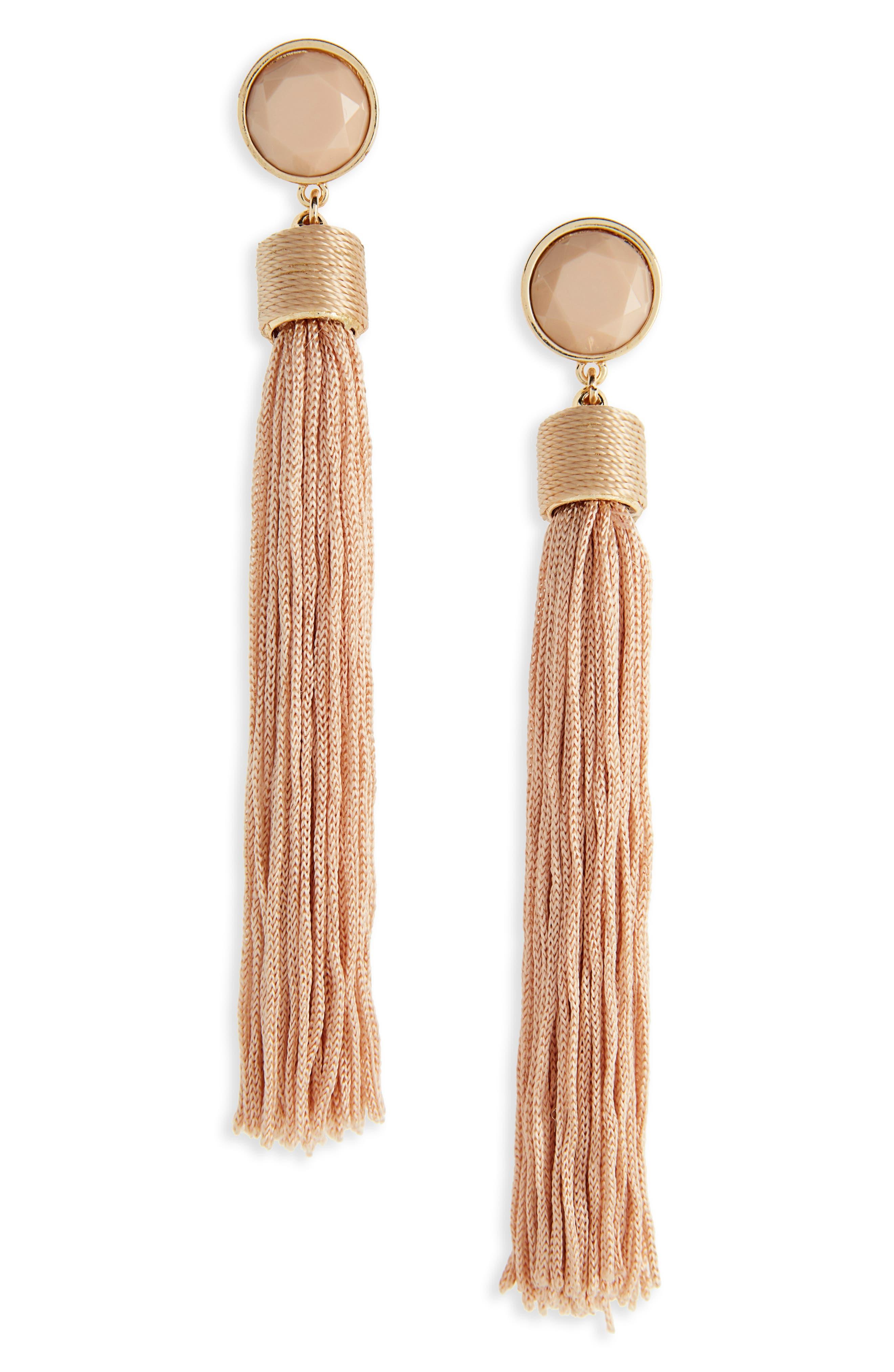 Tassel Drop Earrings,                             Main thumbnail 2, color,
