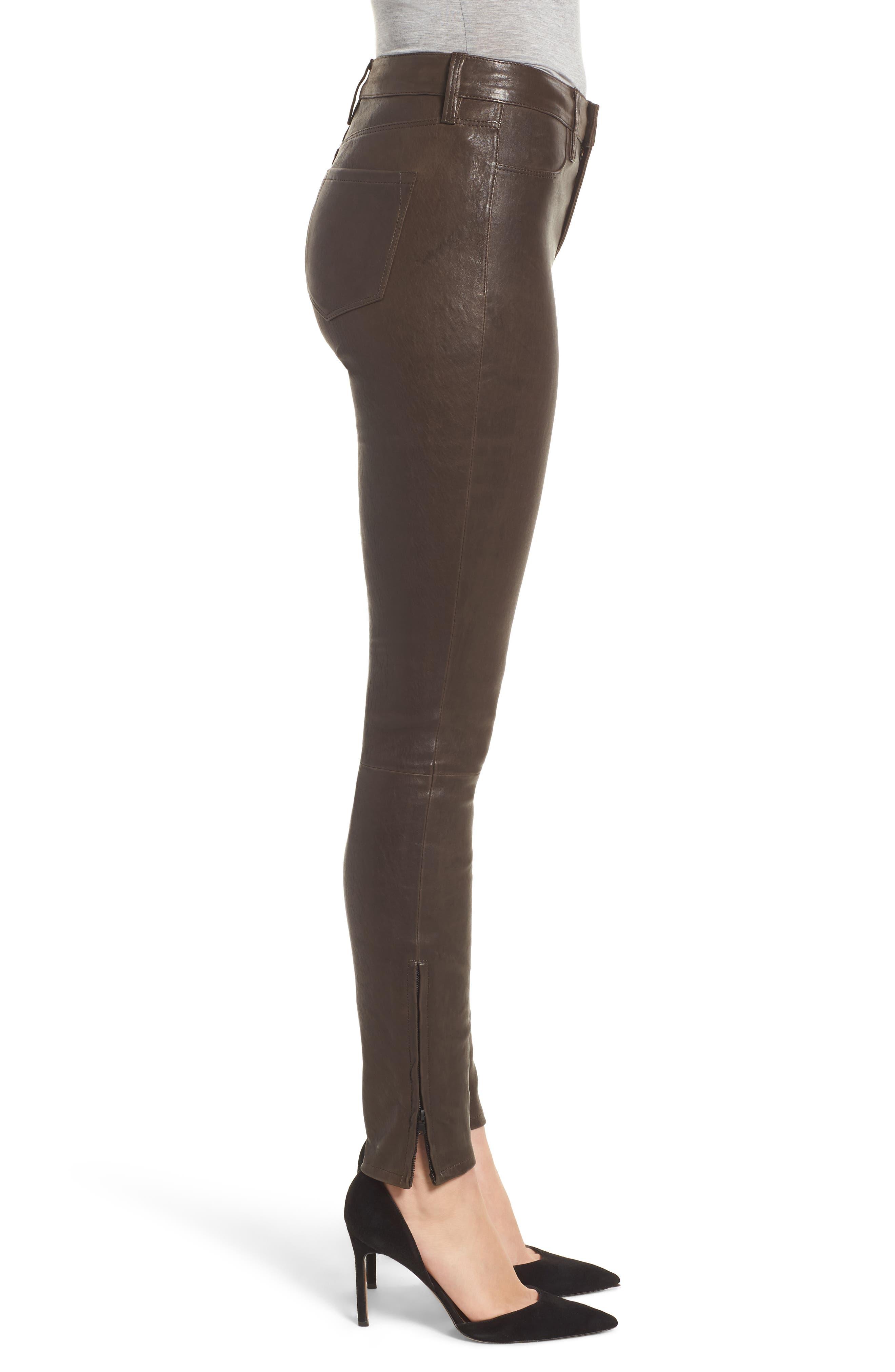 '8001' Lambskin Leather Pants,                             Alternate thumbnail 45, color,