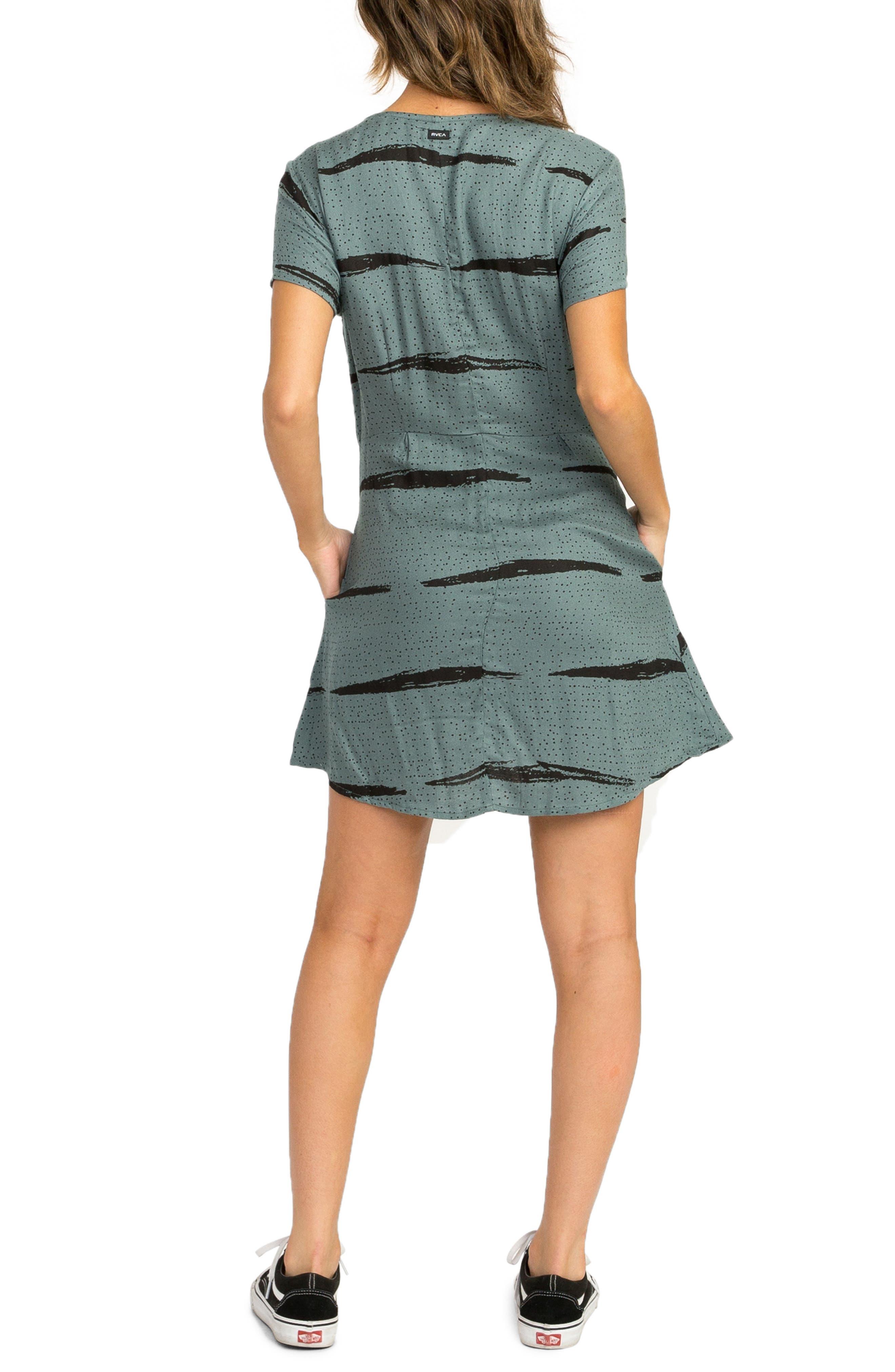 RVCA,                             Dawning Print Dress,                             Alternate thumbnail 2, color,                             382