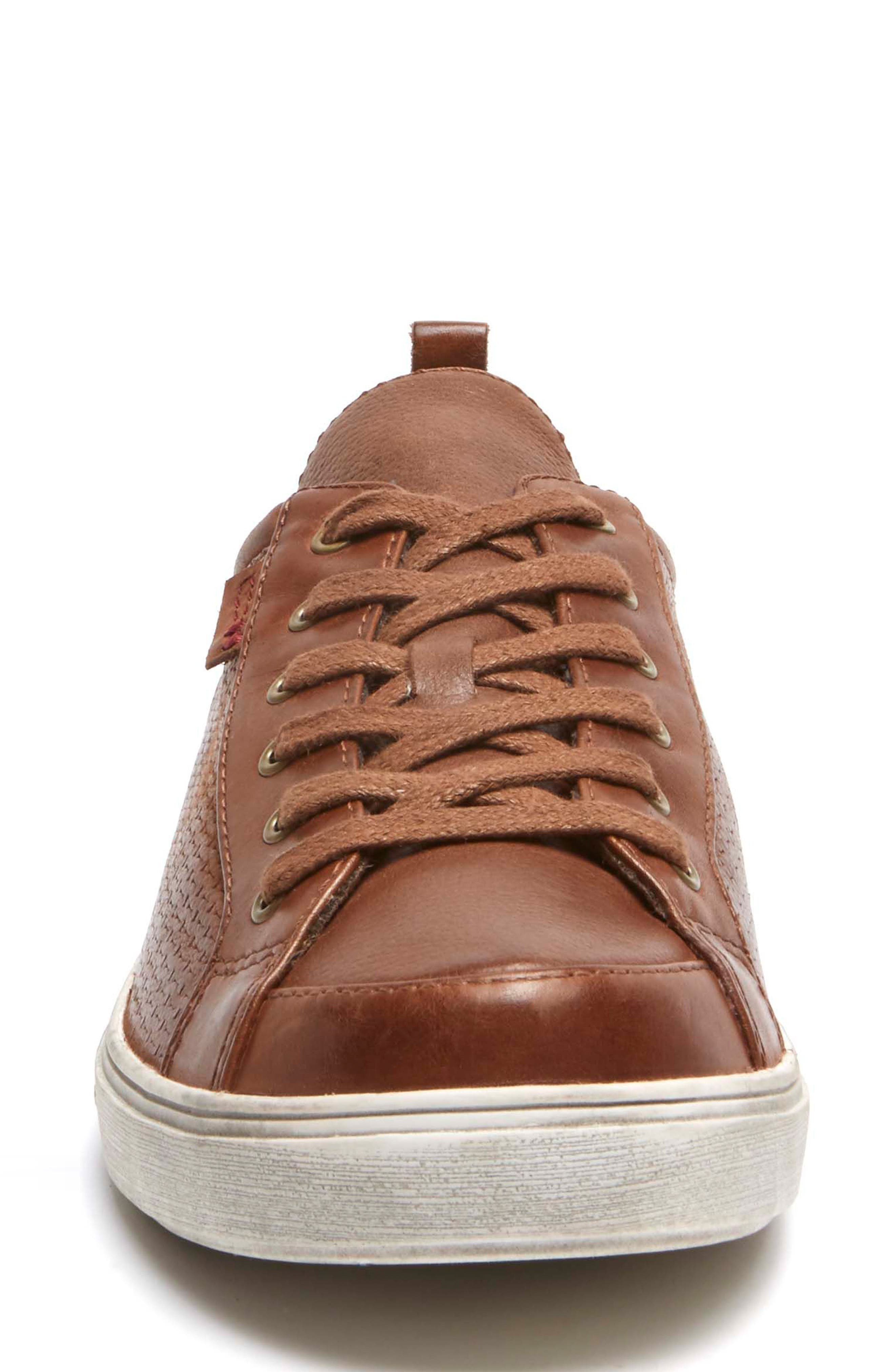 Willa Sneaker,                             Alternate thumbnail 4, color,                             ALMOND LEATHER