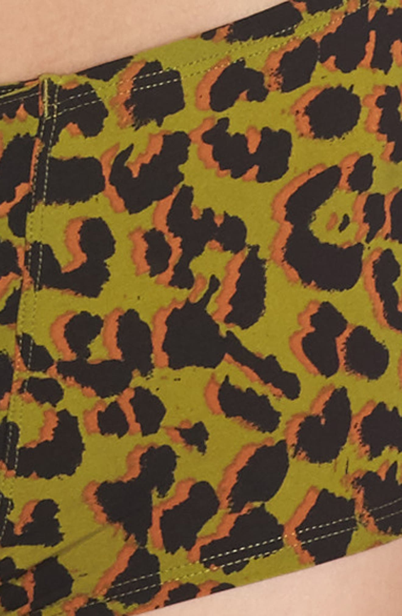 Russel Animal Print Boyshorts,                             Alternate thumbnail 4, color,                             001