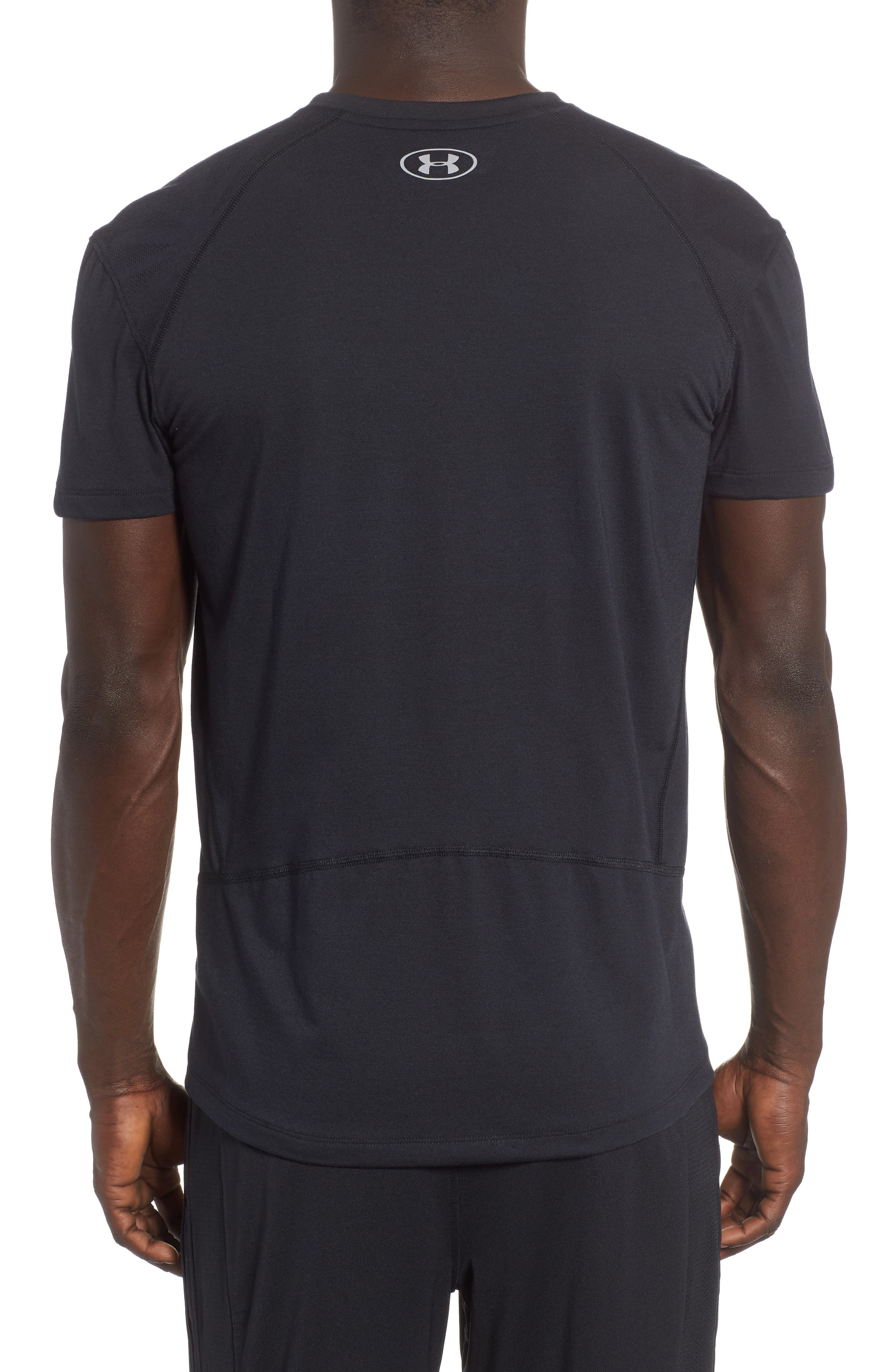 Microthread Swyft V-Neck T-Shirt,                             Alternate thumbnail 2, color,                             BLACK/ BLACK/ REFLECTIVE