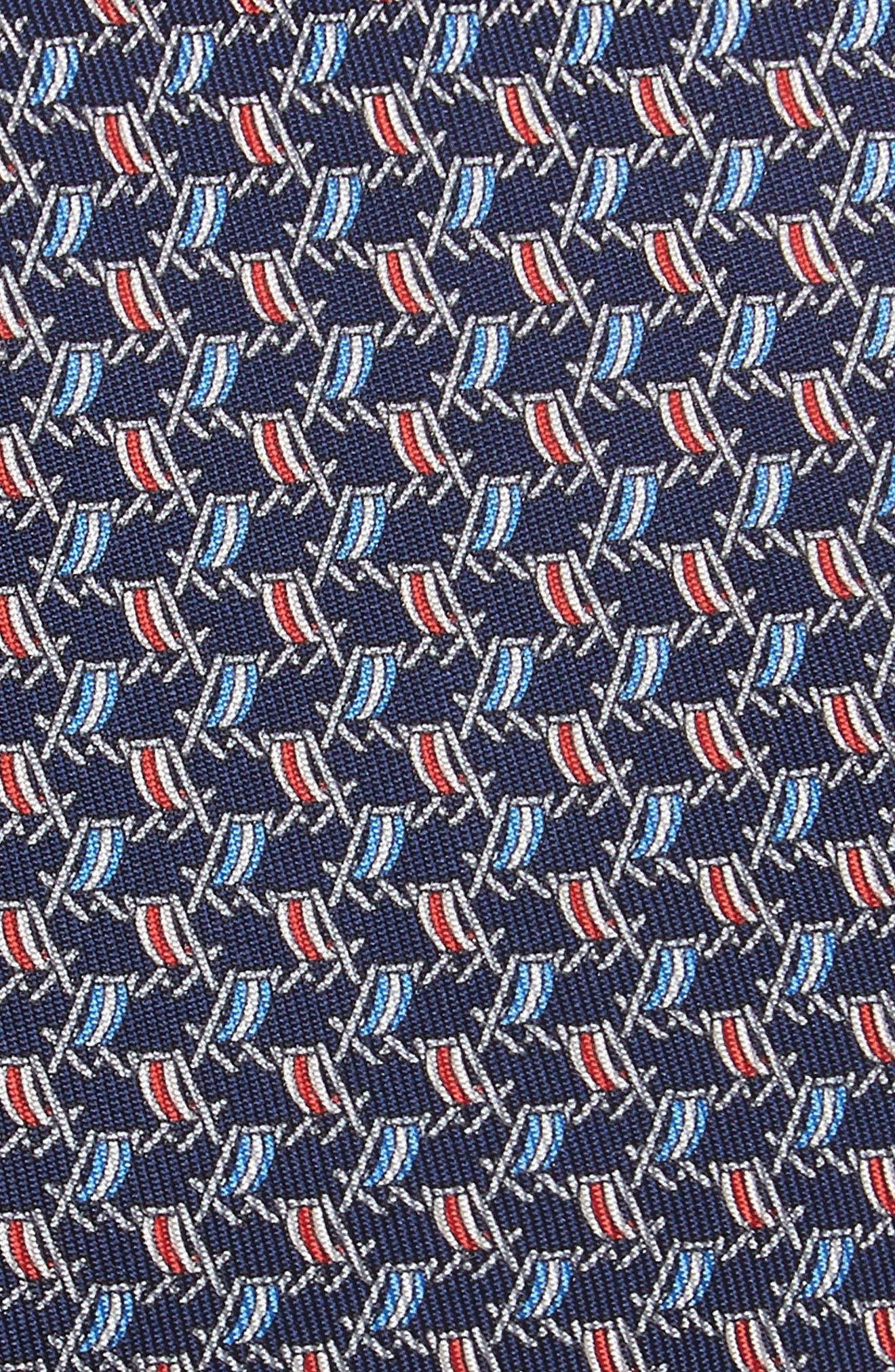 Ersilia Print Silk Tie,                             Alternate thumbnail 2, color,                             NAVY
