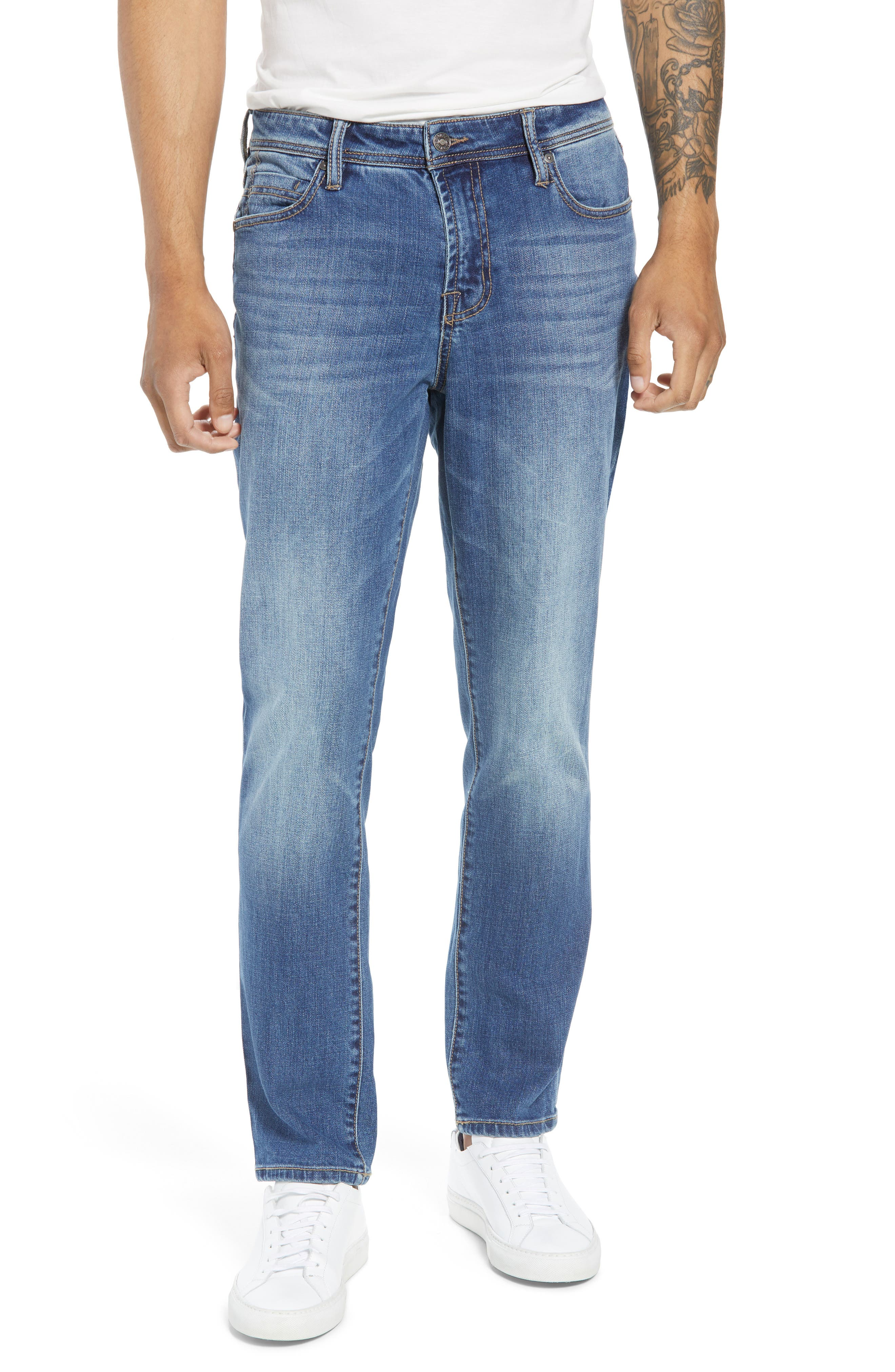 Jeans Co. Slim Straight Leg Jeans,                         Main,                         color, BRYSON VINTAGE MED