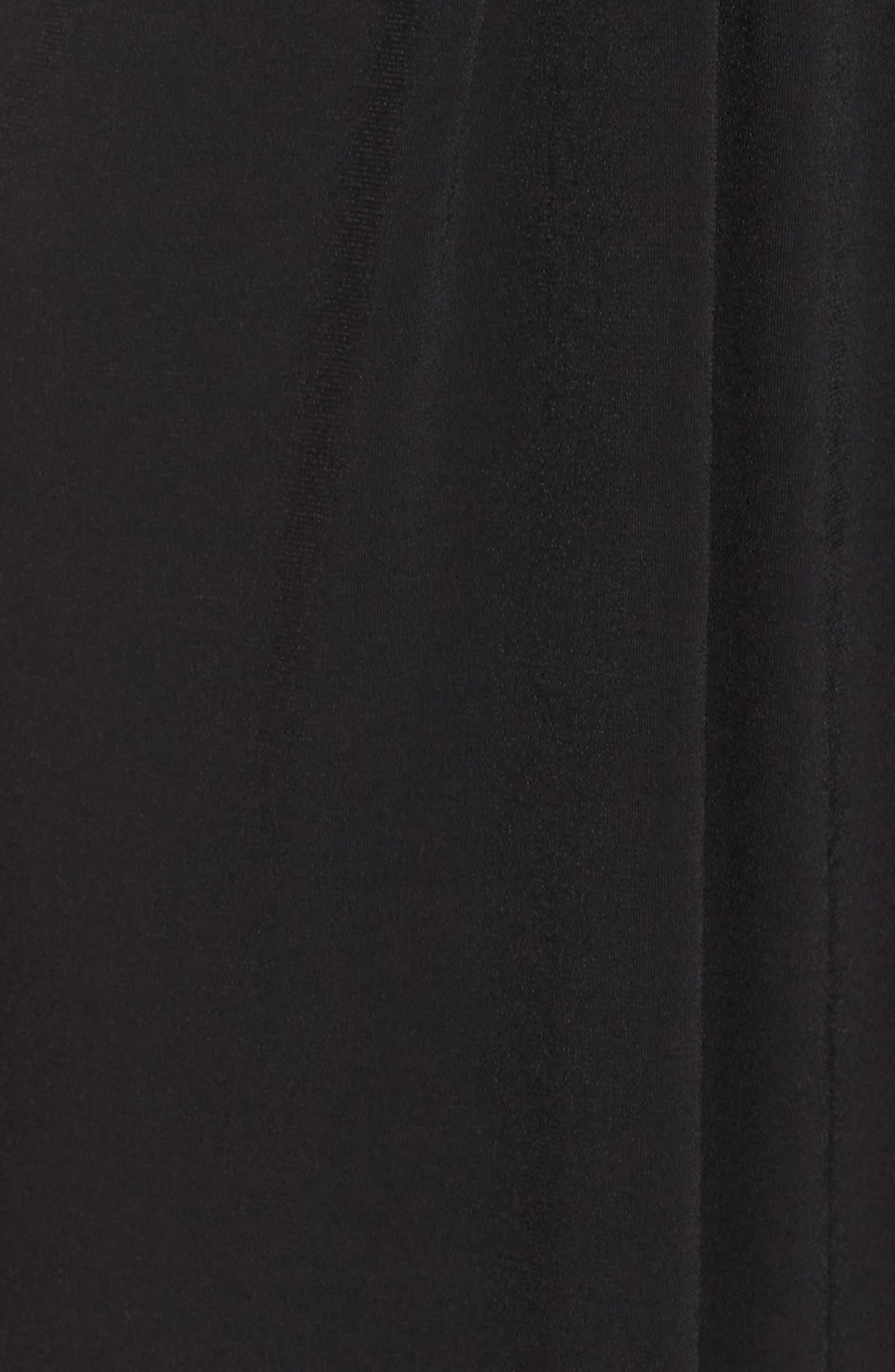 Faux Wrap Jersey Jumpsuit,                             Alternate thumbnail 6, color,                             BLACK