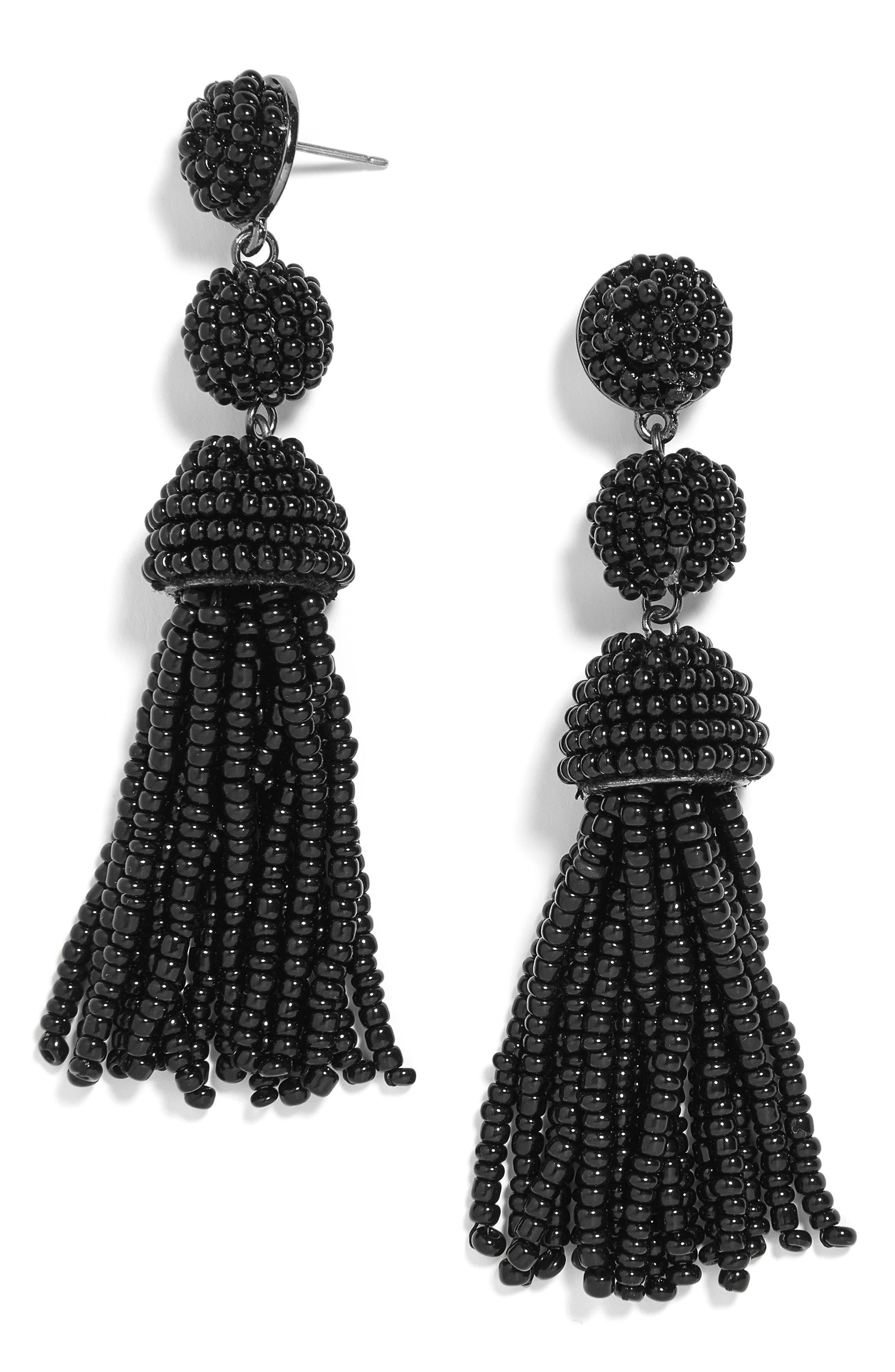 New Mini Granita Tassel Earrings,                         Main,                         color, 001