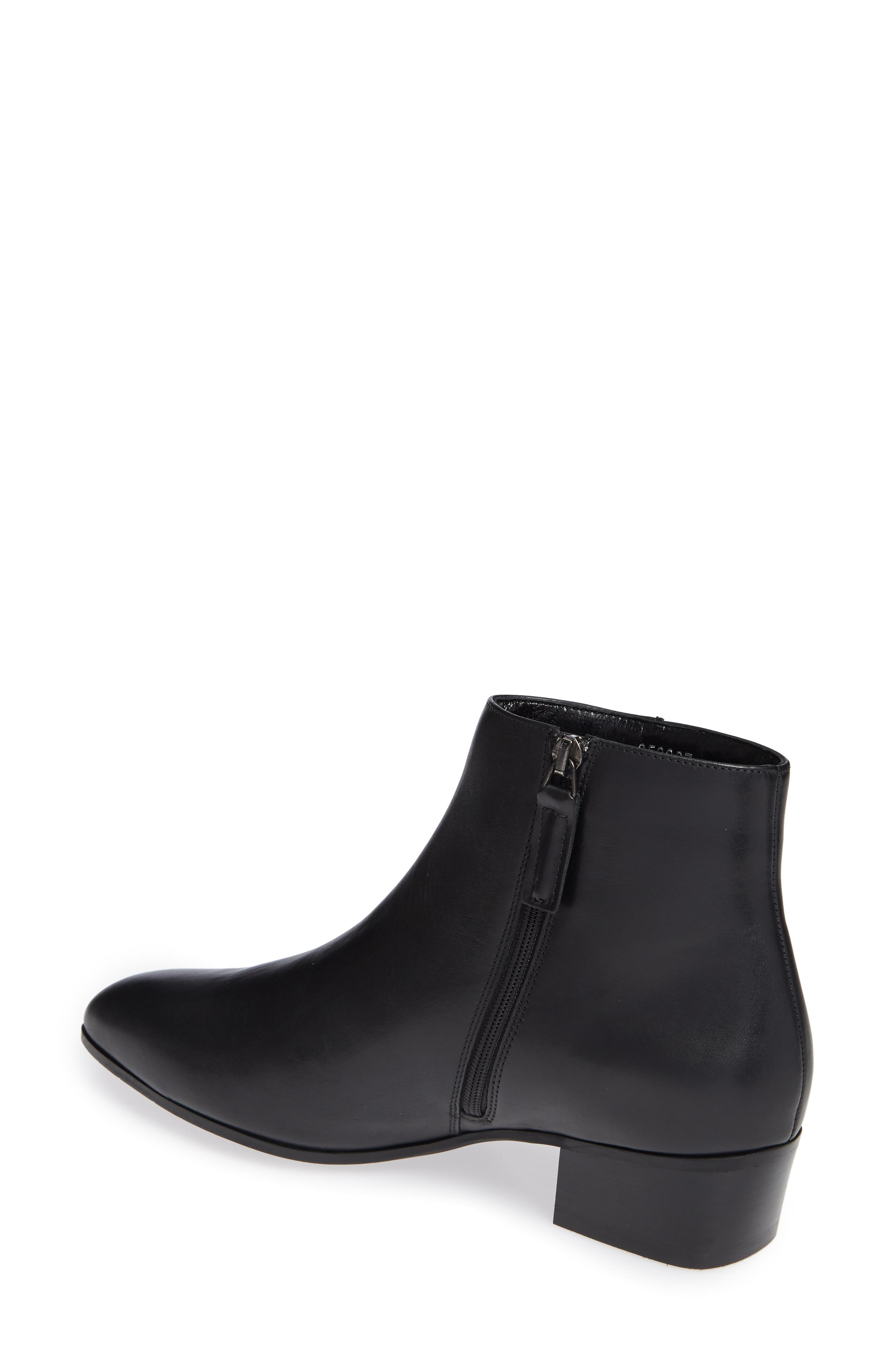 Fuoco Weatherproof Bootie,                             Alternate thumbnail 2, color,                             BLACK LEATHER