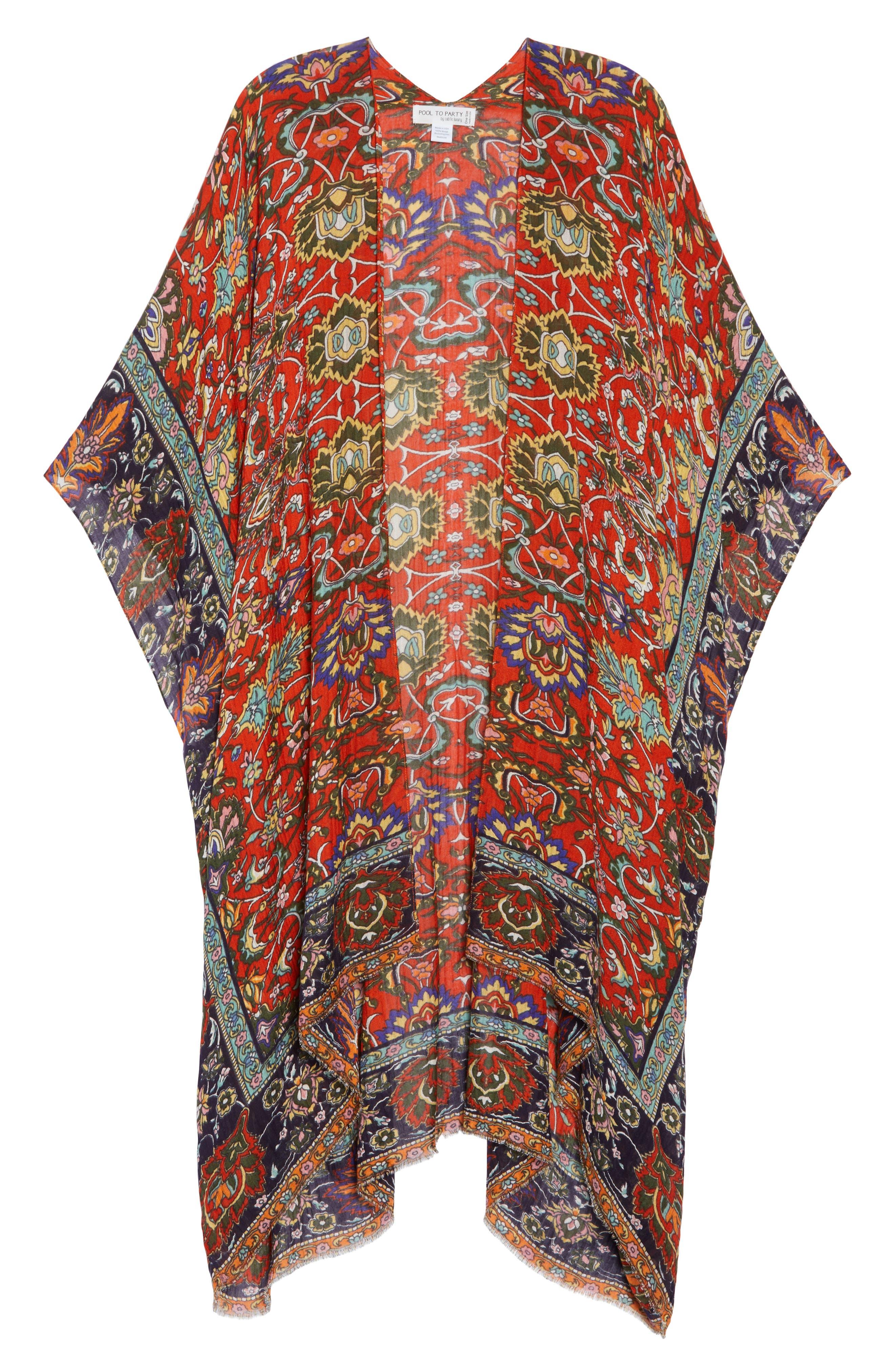 Cover-Up Kimono,                             Alternate thumbnail 6, color,