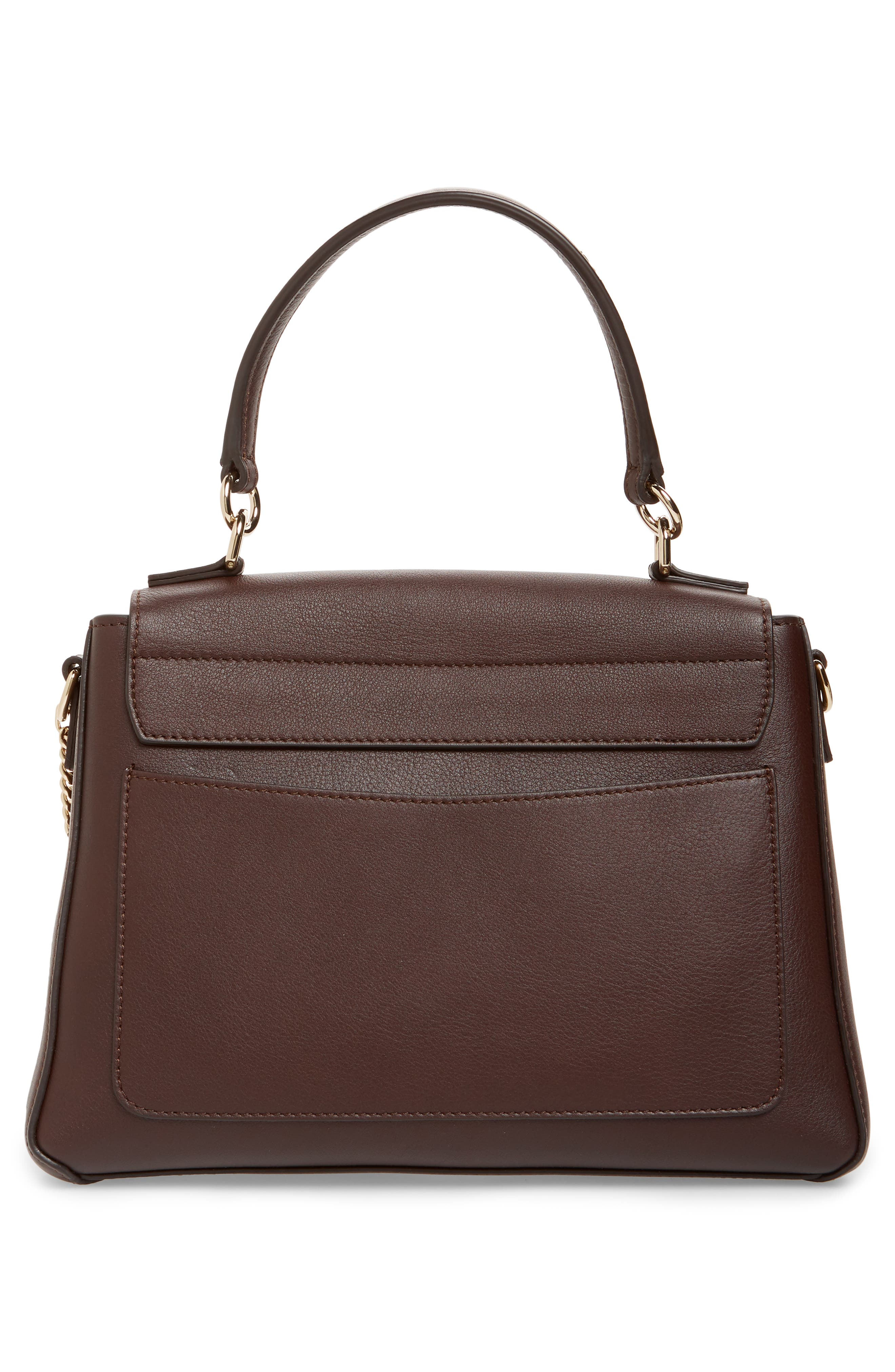 Small Faye Day Leather Shoulder Bag,                             Alternate thumbnail 3, color,                             CARBON BROWN
