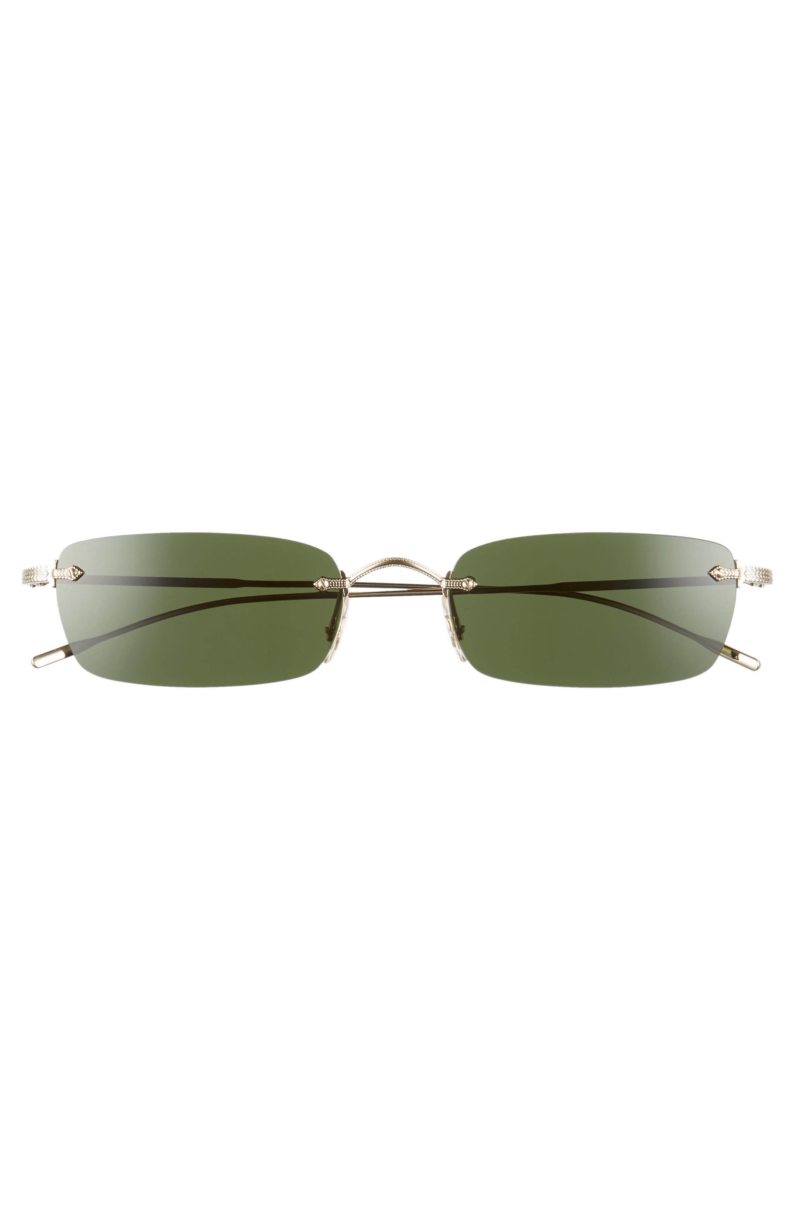 Daveigh 54mm Sunglasses,                             Alternate thumbnail 3, color,                             GREEN