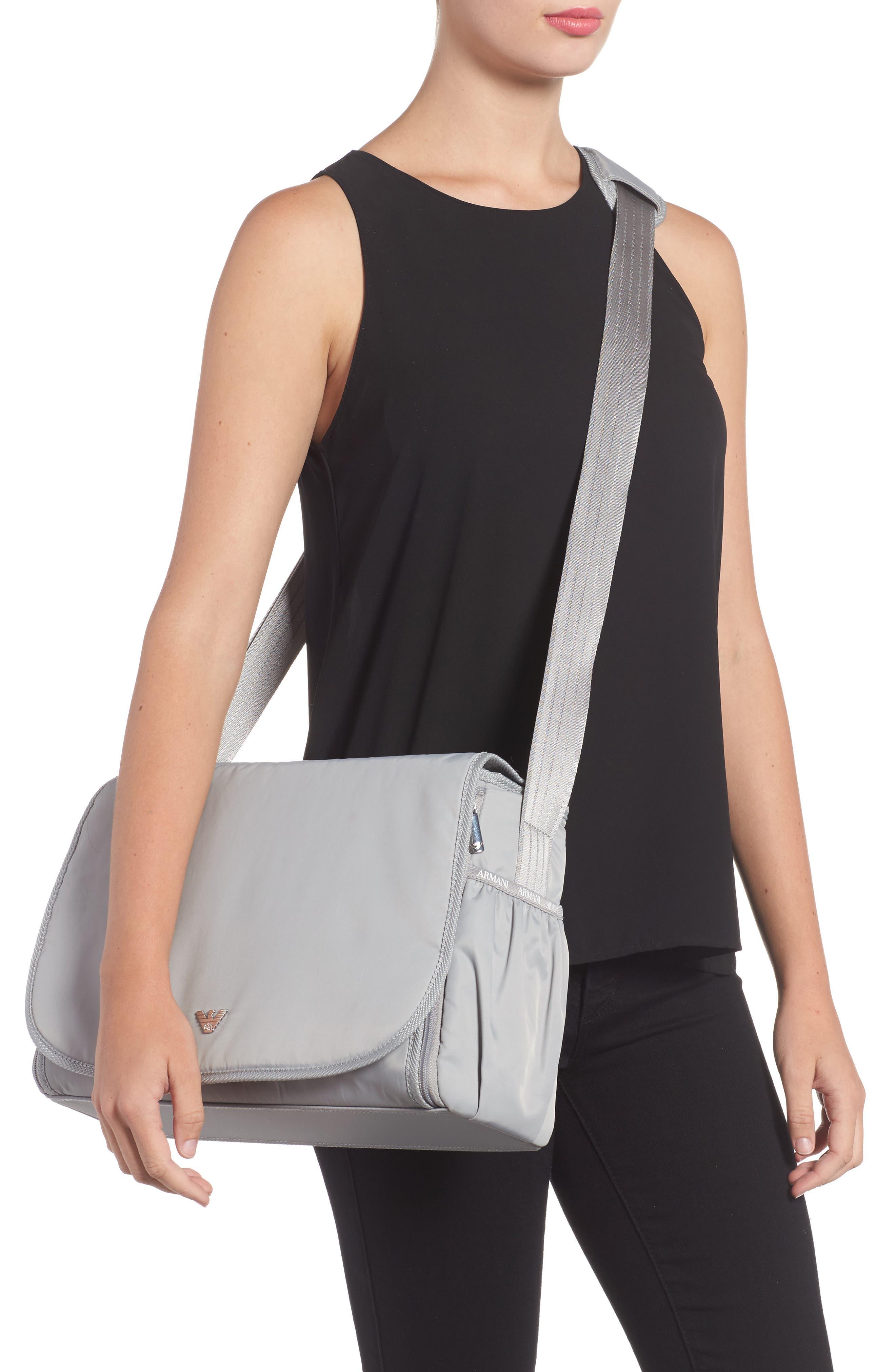 Nylon Messenger Diaper Bag,                             Alternate thumbnail 2, color,                             054