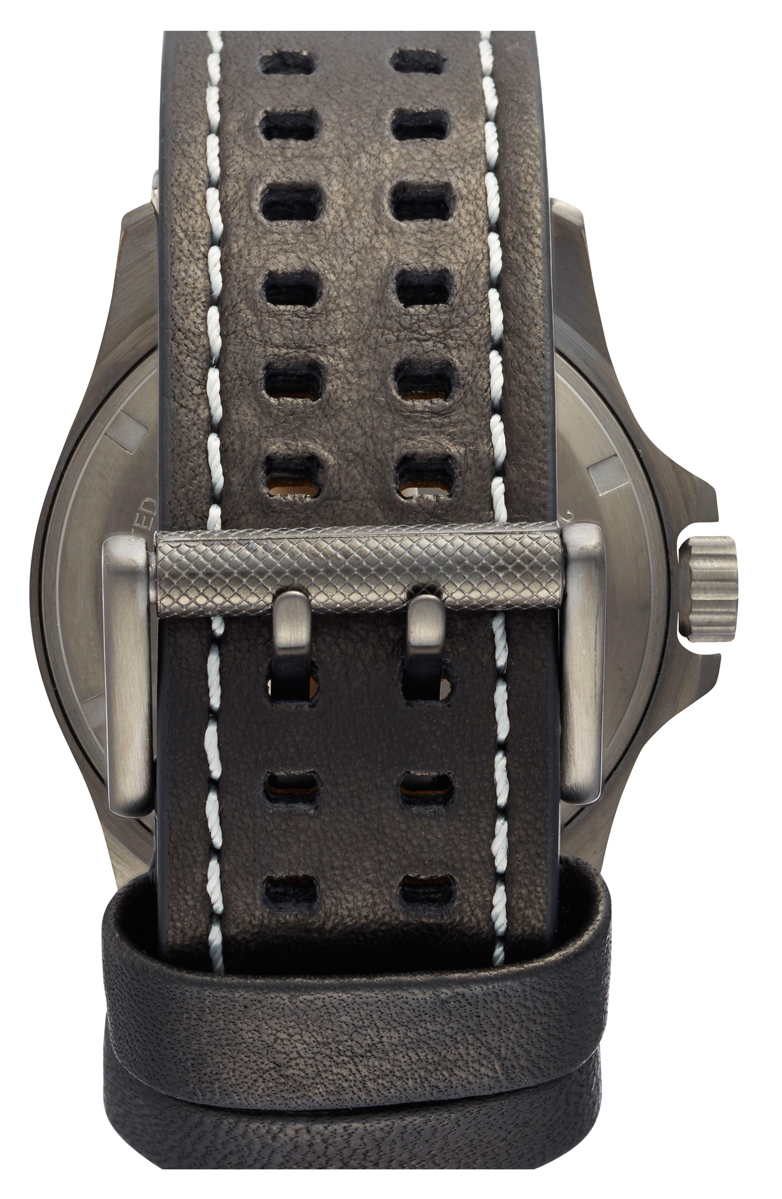 'Land - Atacama Field' Leather Strap Watch, 45mm,                             Alternate thumbnail 9, color,