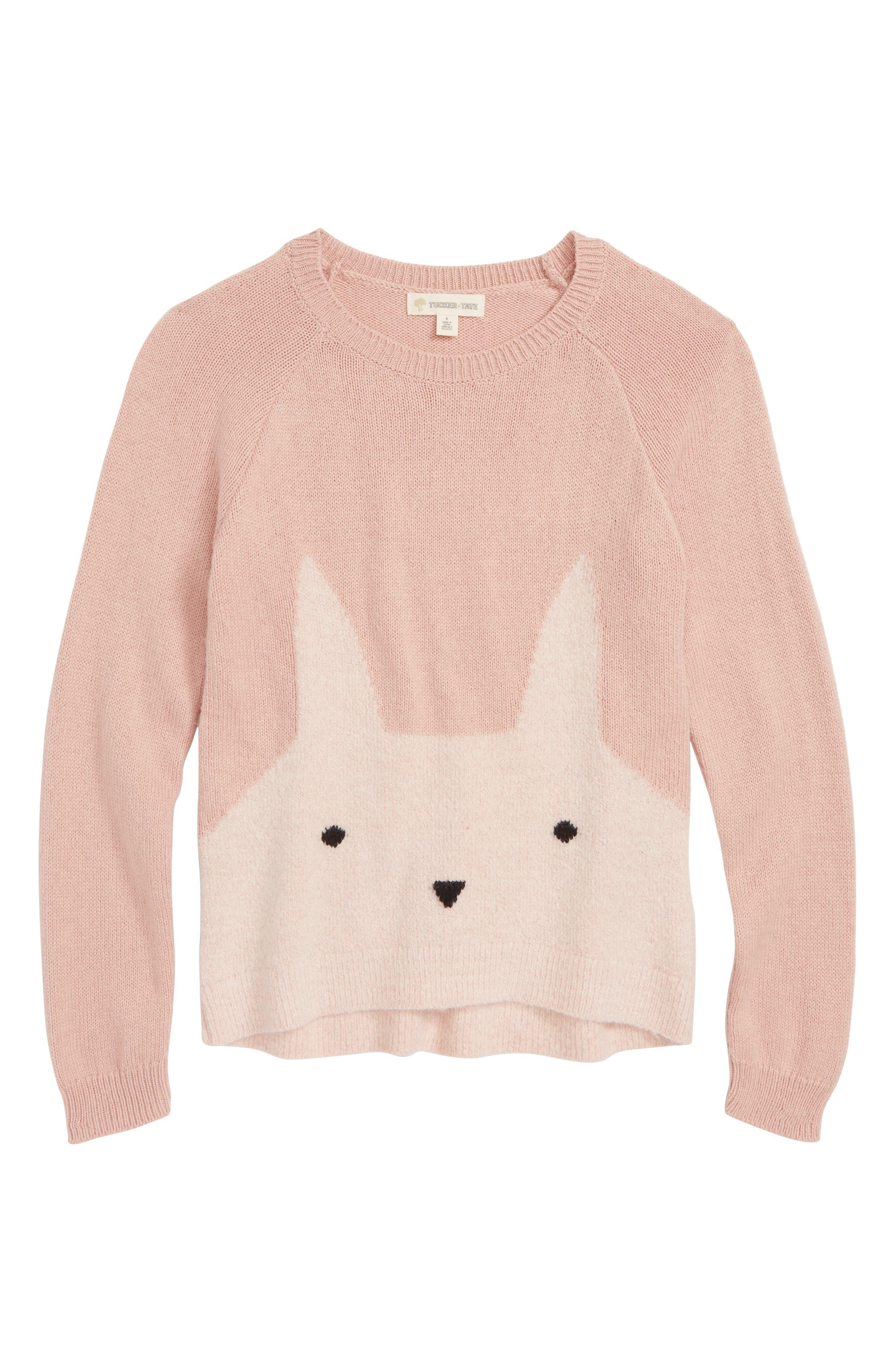 Icon Sweater,                         Main,                         color, PINK PEACHSKIN BUNNY