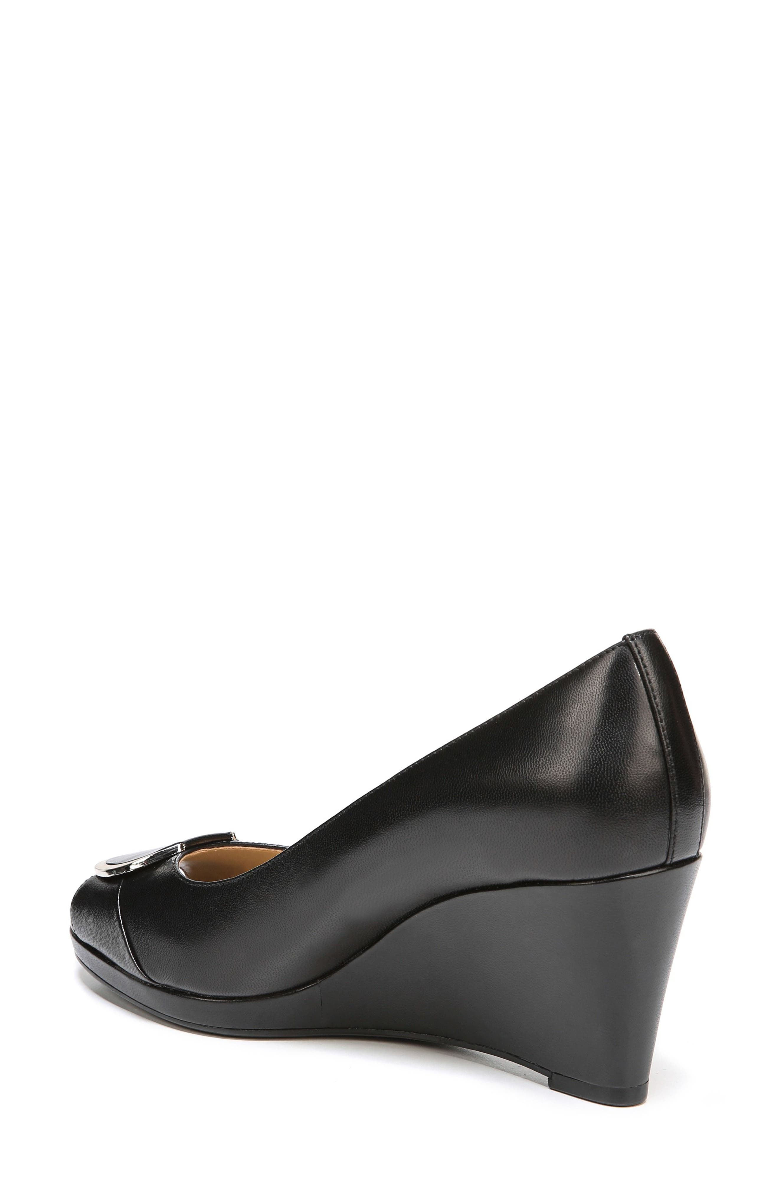 Ollie Peep Toe Wedge,                             Alternate thumbnail 4, color,