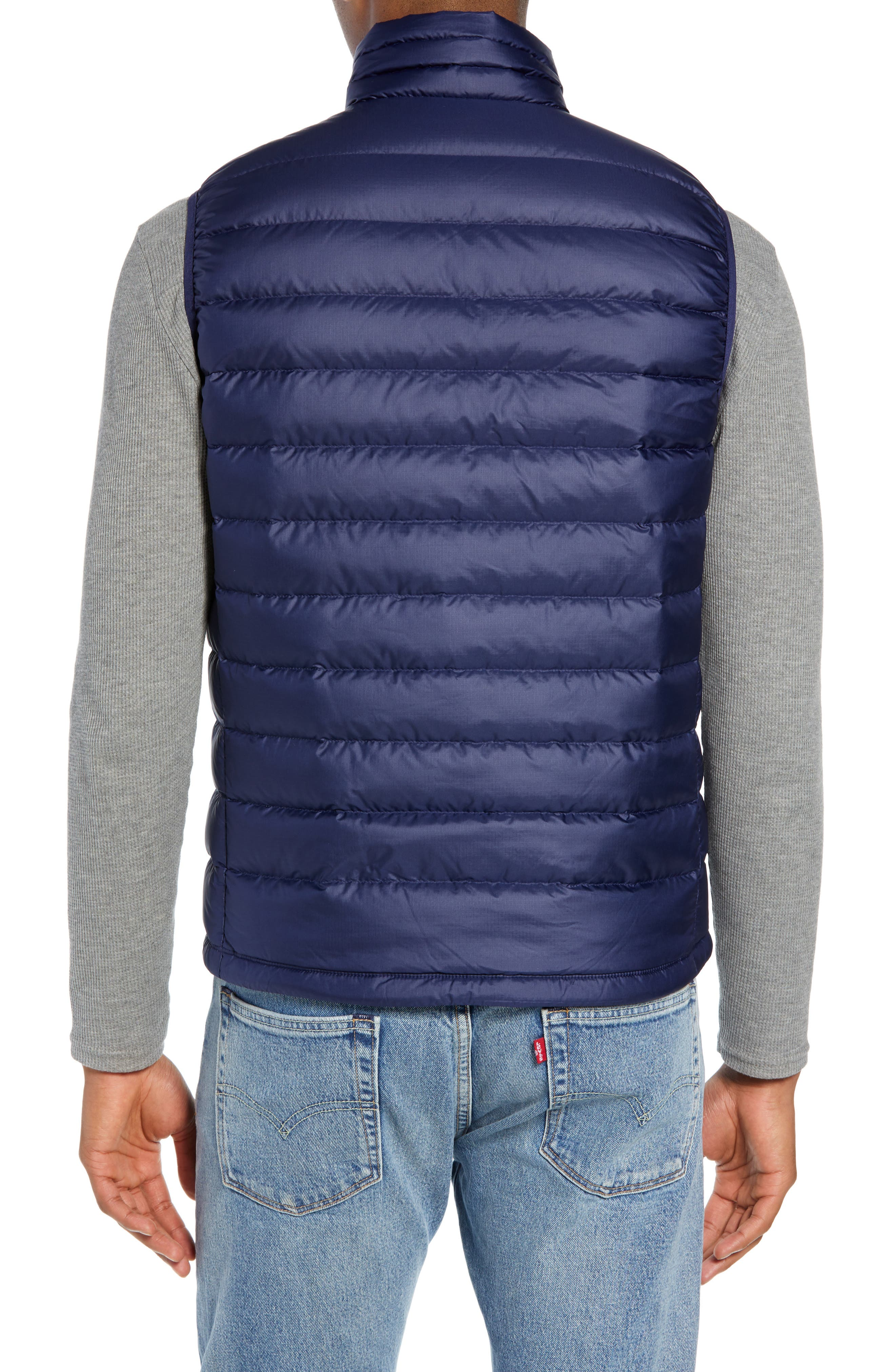 Windproof & Water Resistant 800 Fill Power Down Quilted Vest,                             Alternate thumbnail 13, color,