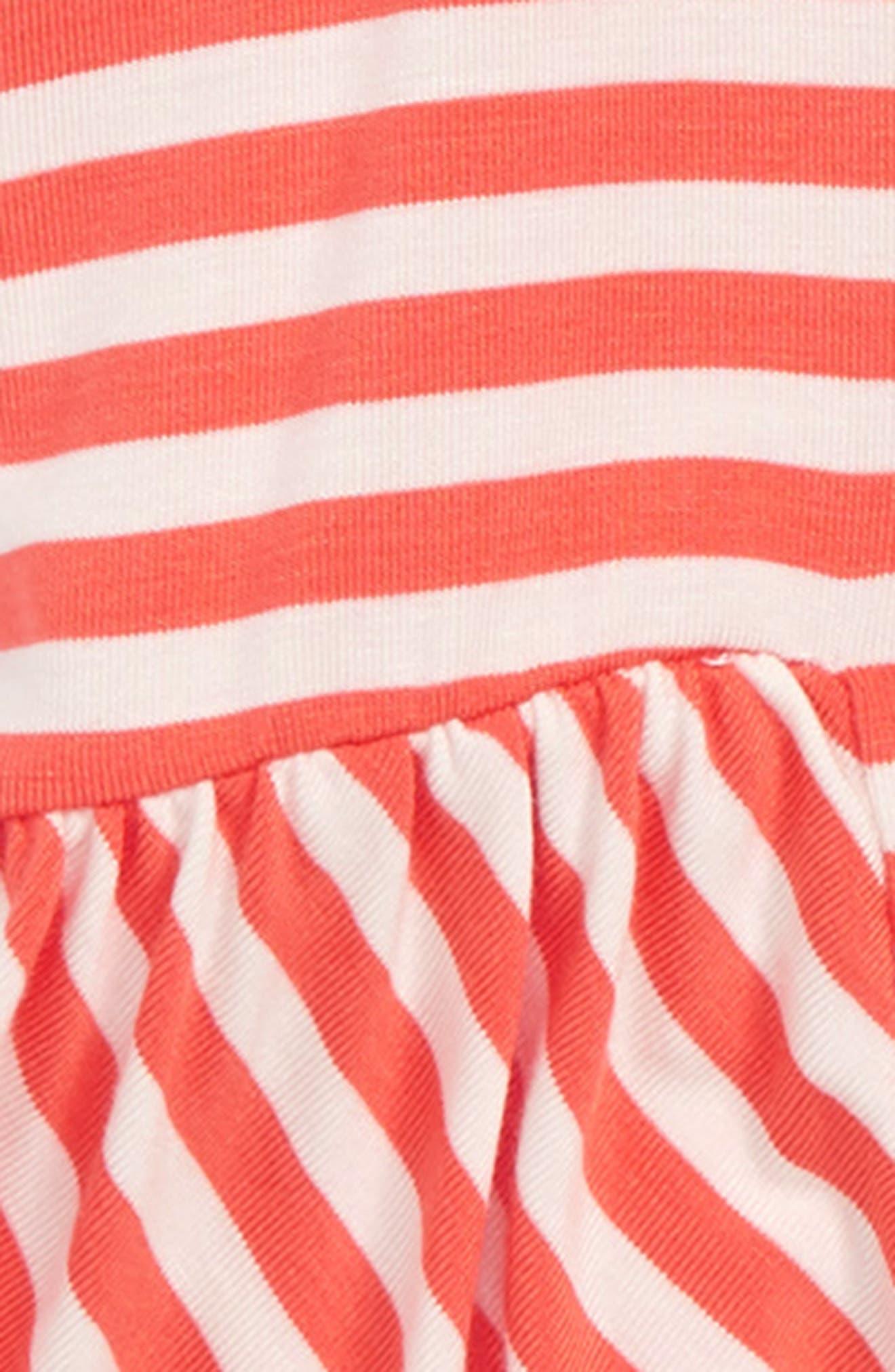 Stripe Peplum Tank,                             Alternate thumbnail 2, color,                             CORAL/ WHITE STRIPE