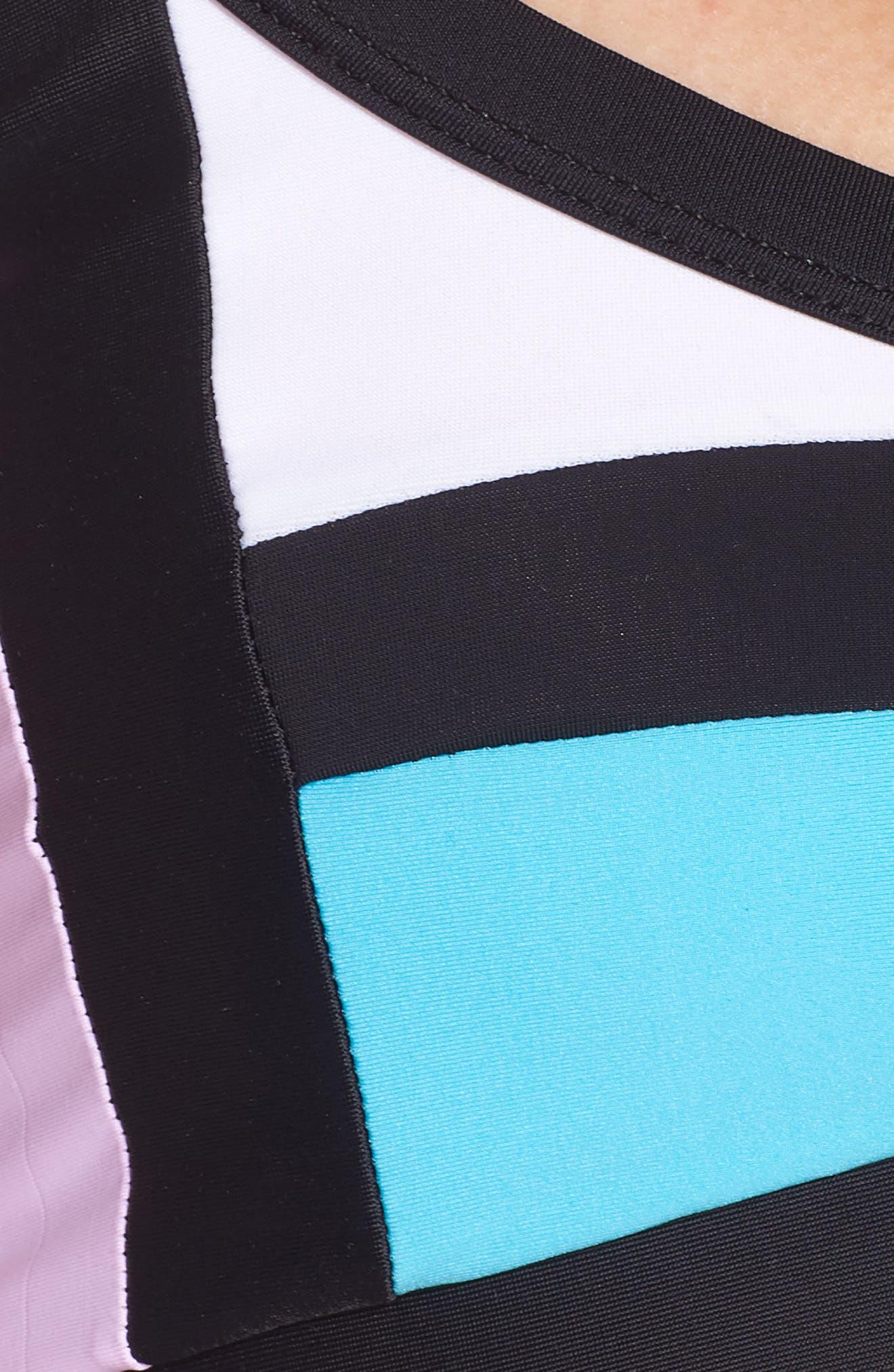 Color Block Bikini Top,                             Alternate thumbnail 6, color,                             LILAC