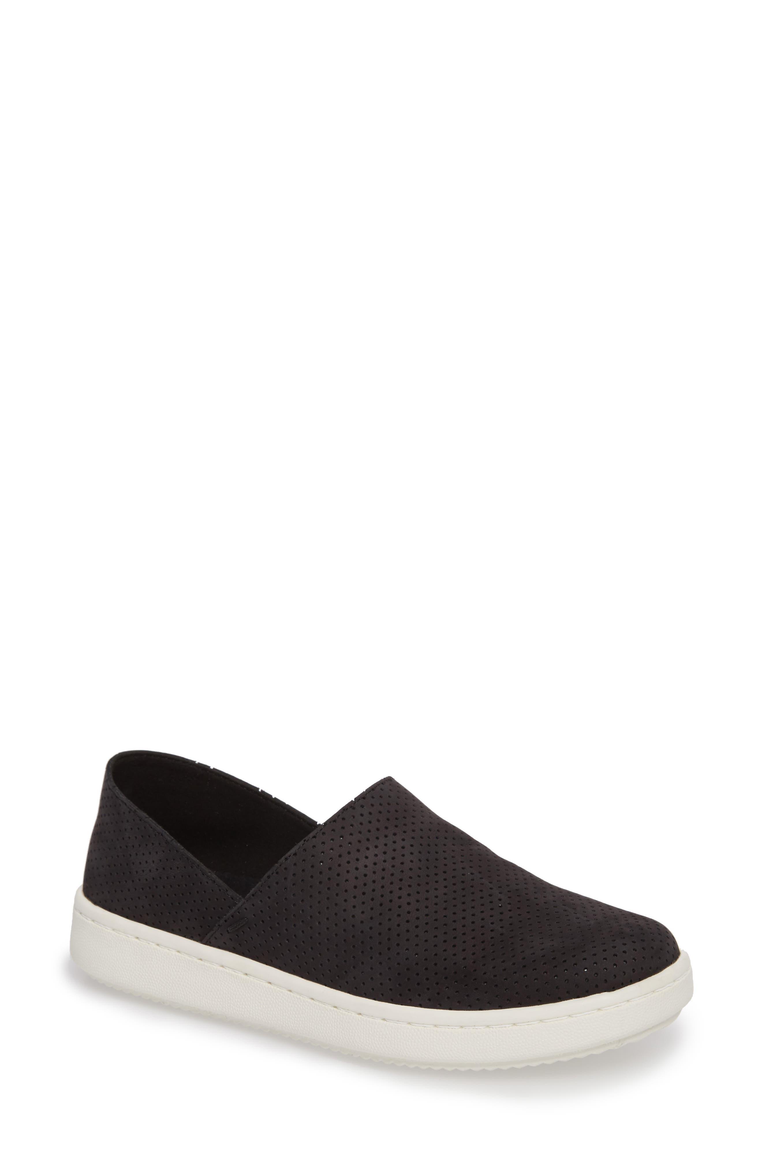 Panda Perforated Slip-On Sneaker,                             Main thumbnail 1, color,                             001
