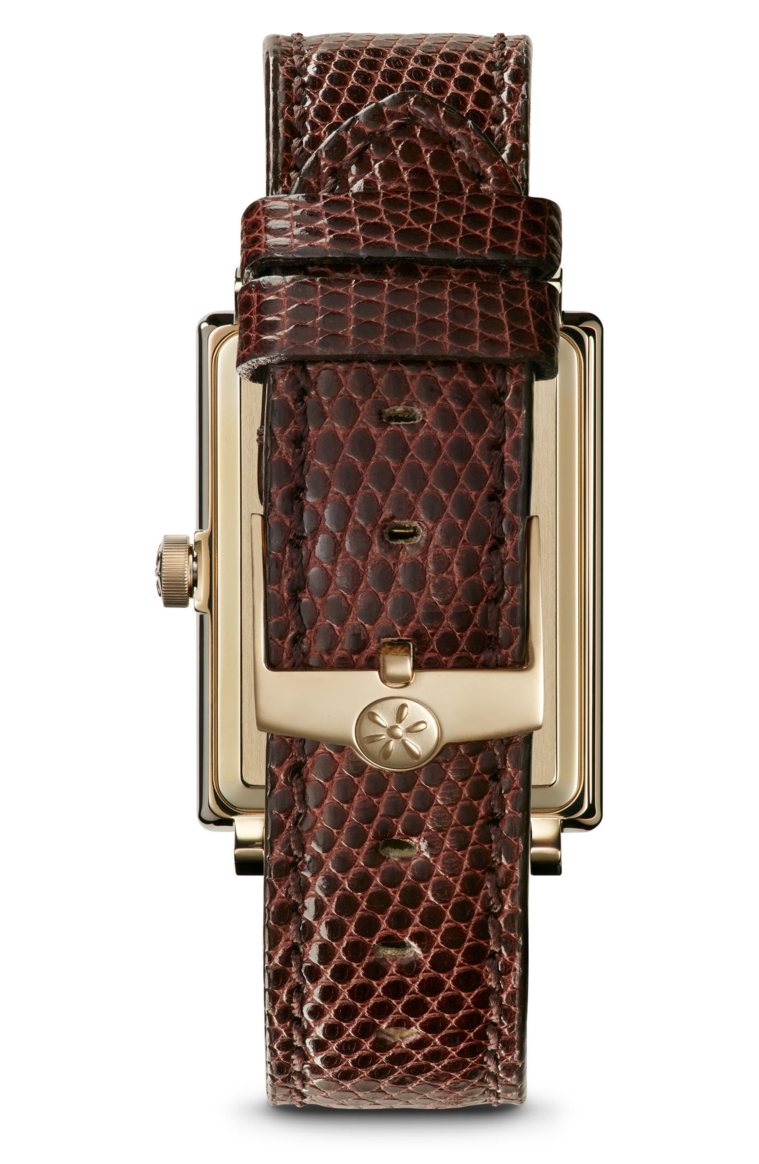 The Shirley Fromer Leather Strap Watch, 32mm x 25mm,                             Alternate thumbnail 6, color,