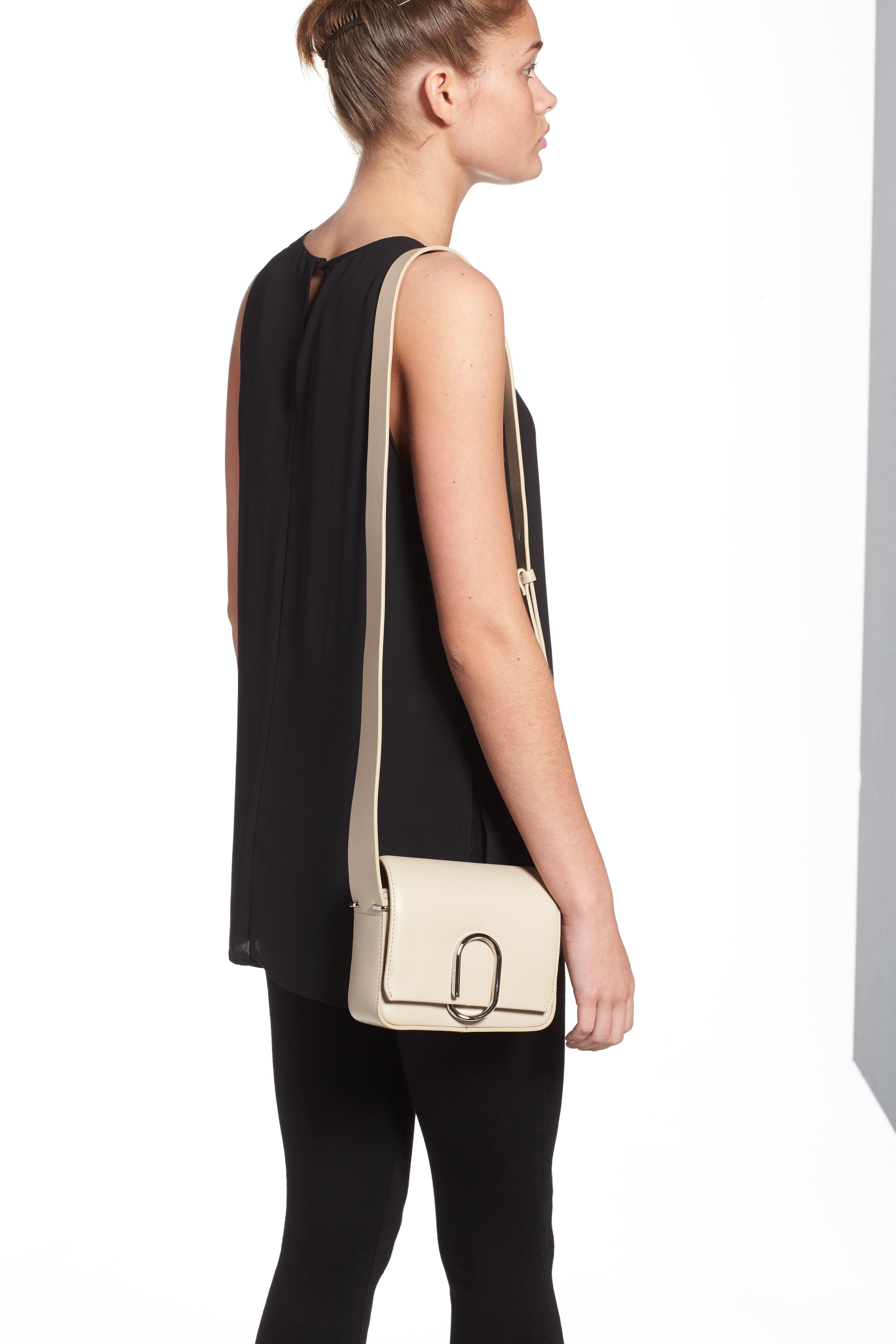 'Mini Alix' Leather Shoulder Bag,                             Alternate thumbnail 4, color,                             110