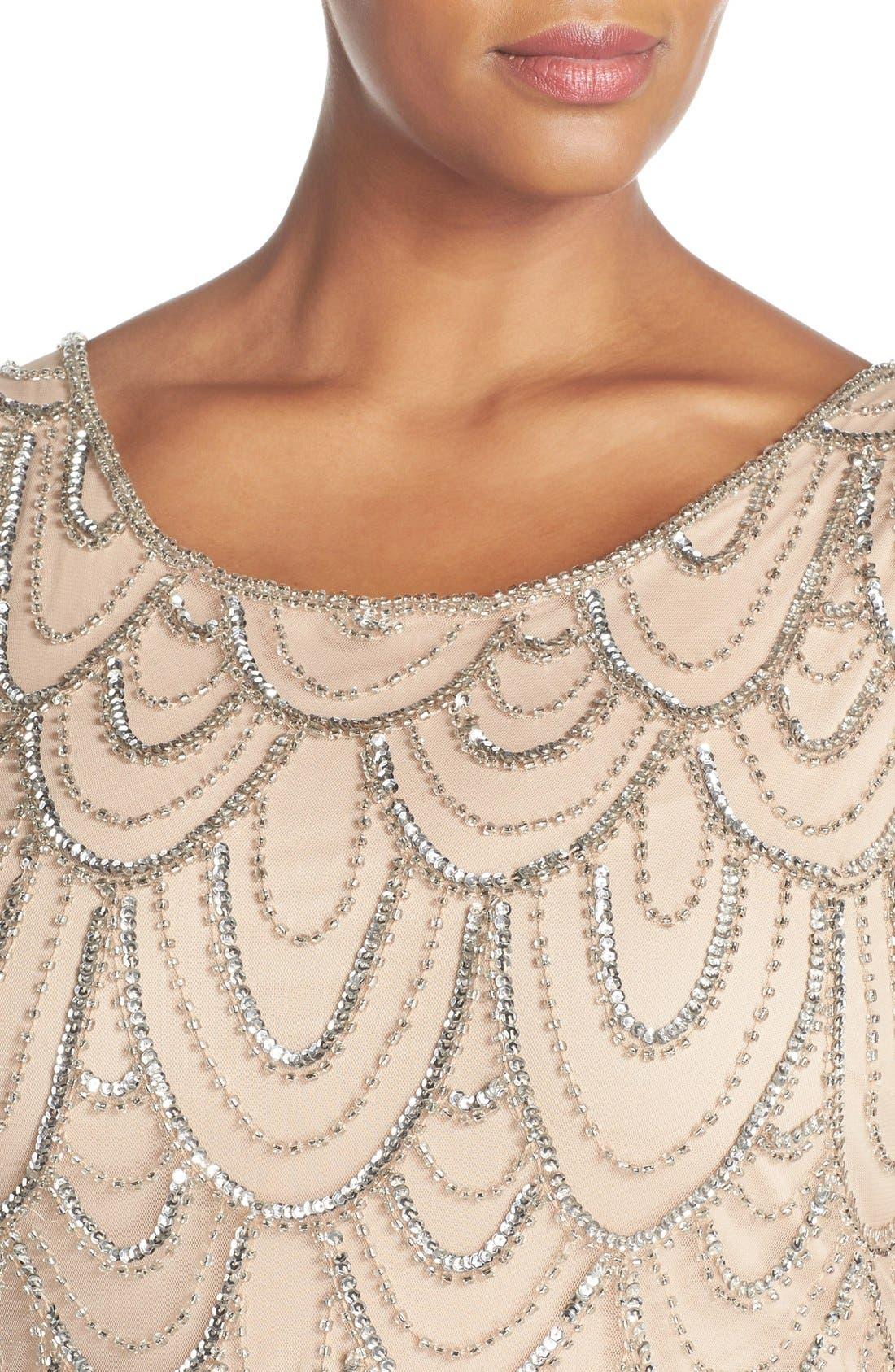 Beaded Sheath Dress,                             Alternate thumbnail 45, color,