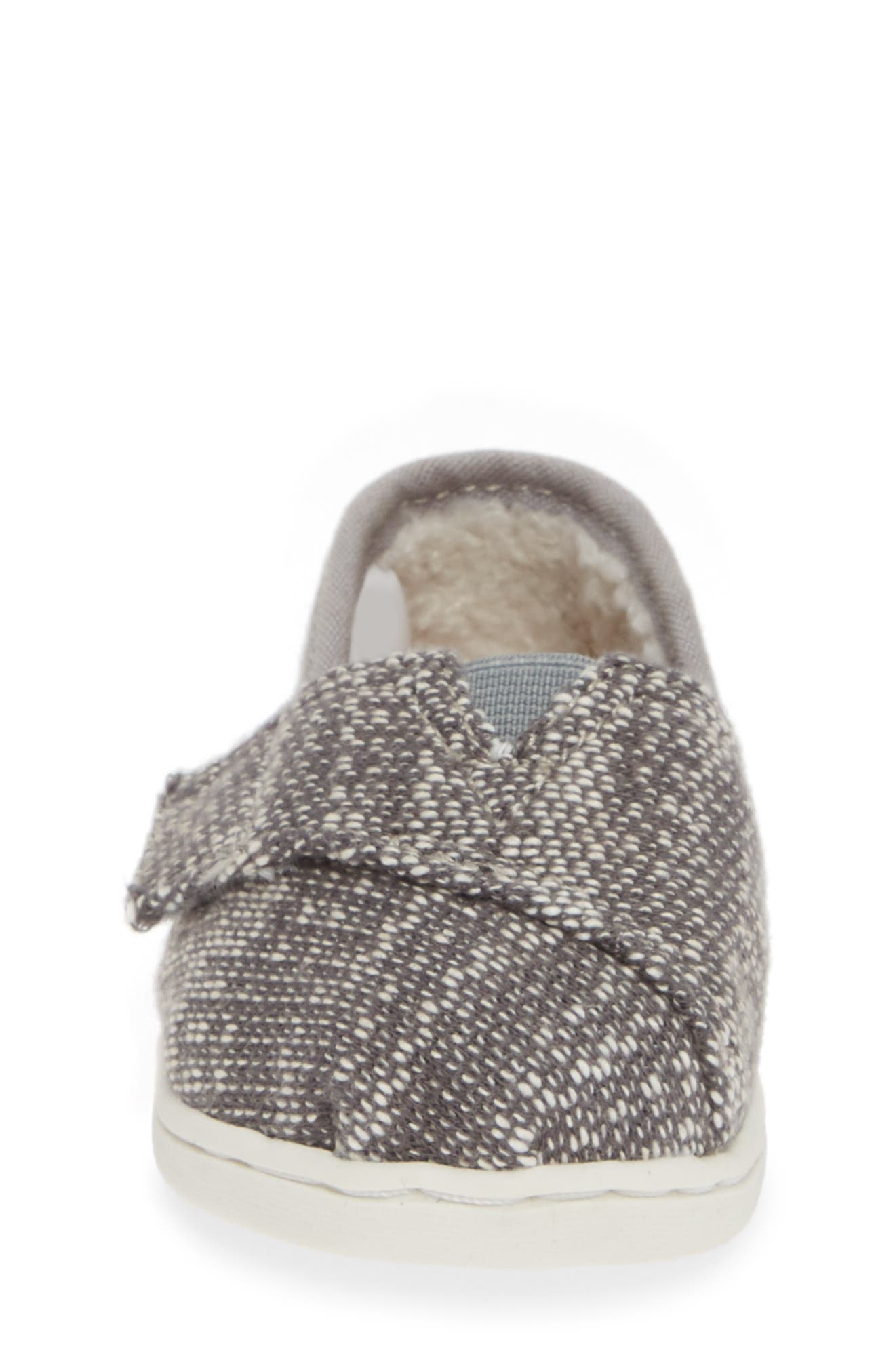 Classic Alpargata Slip-On,                             Alternate thumbnail 4, color,                             SHADE OBLIQUE/ FAUX SHEARLING