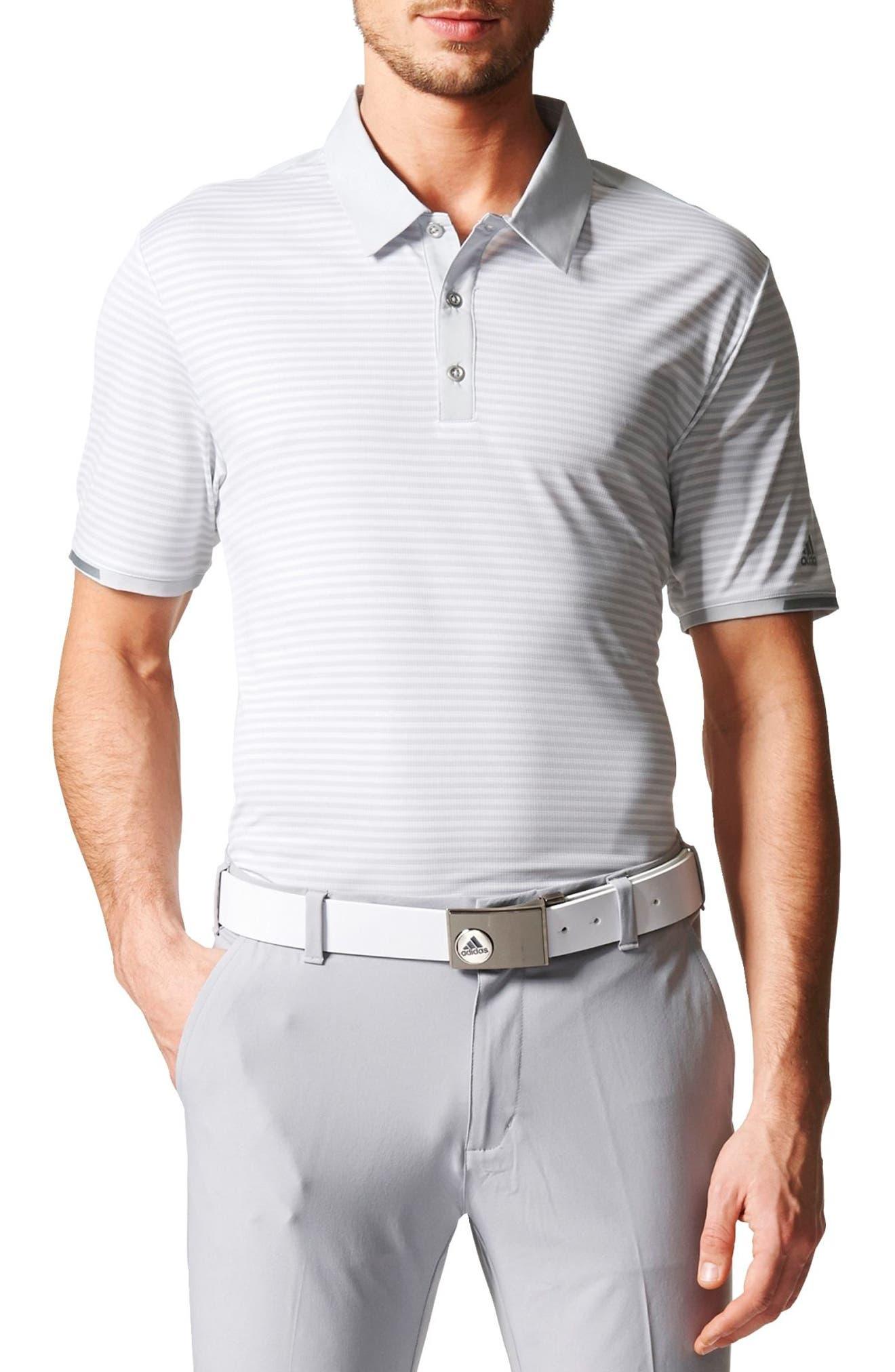 climachill<sup>®</sup> Stripe Golf Polo,                         Main,                         color, 065