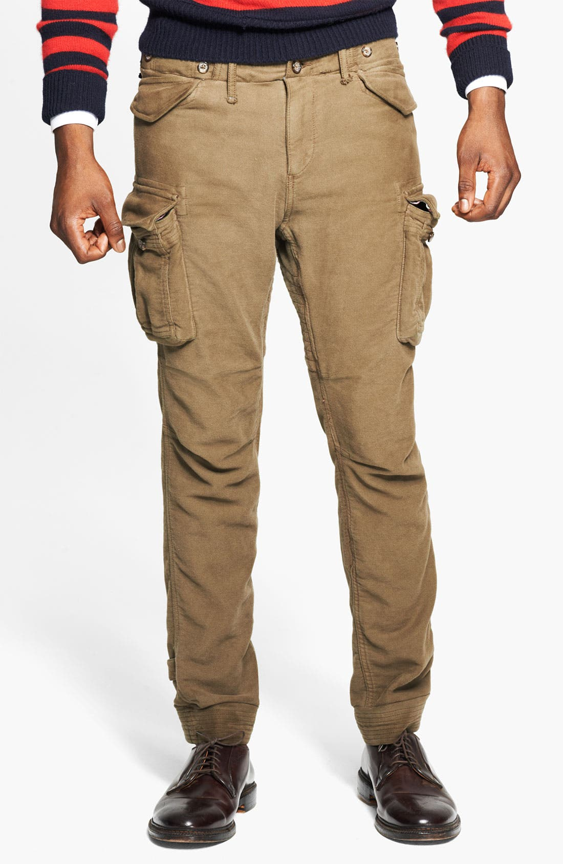 Skinny Moleskin Cotton Cargo Pants,                             Alternate thumbnail 2, color,                             301