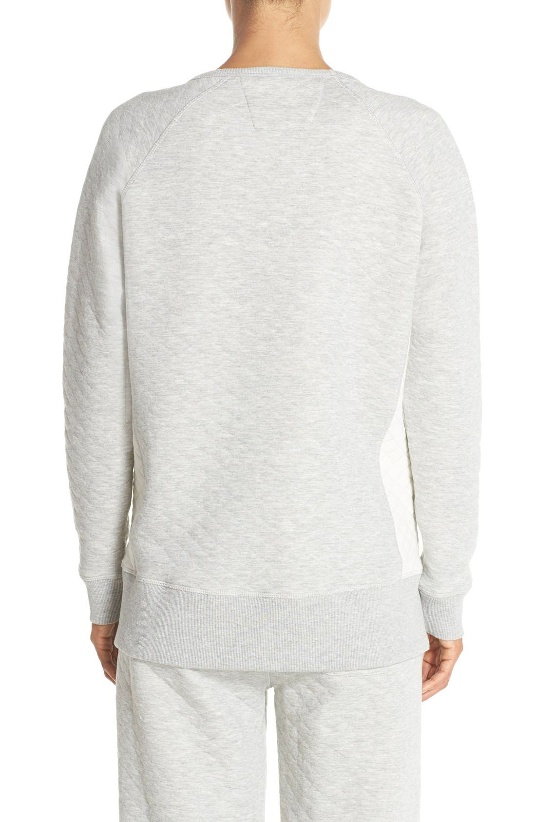 DANIEL BUCHLER,                             Quilted Cotton Sweatshirt,                             Alternate thumbnail 5, color,                             020