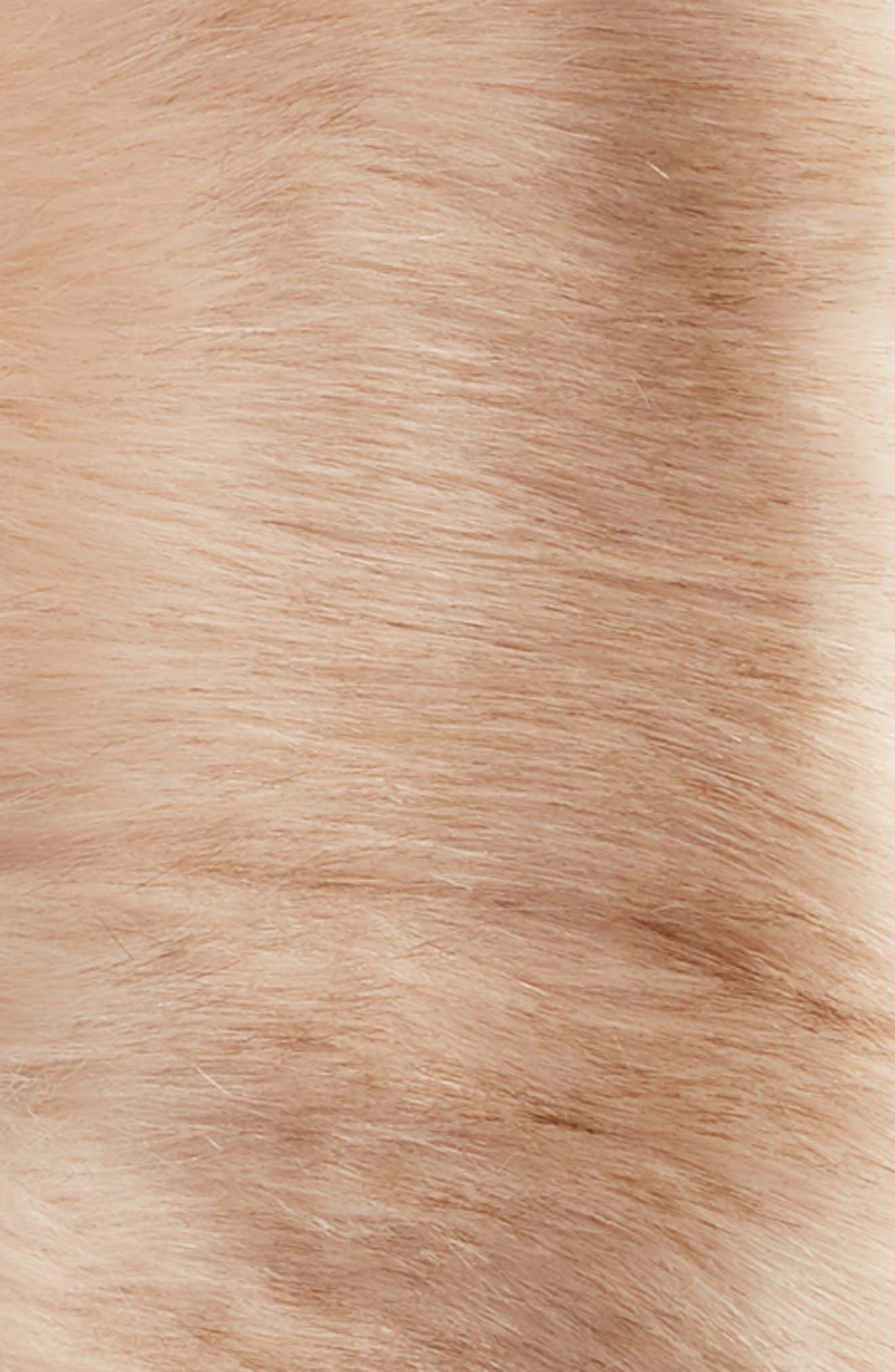 Faux Fur Stole,                             Alternate thumbnail 3, color,                             BLUSH