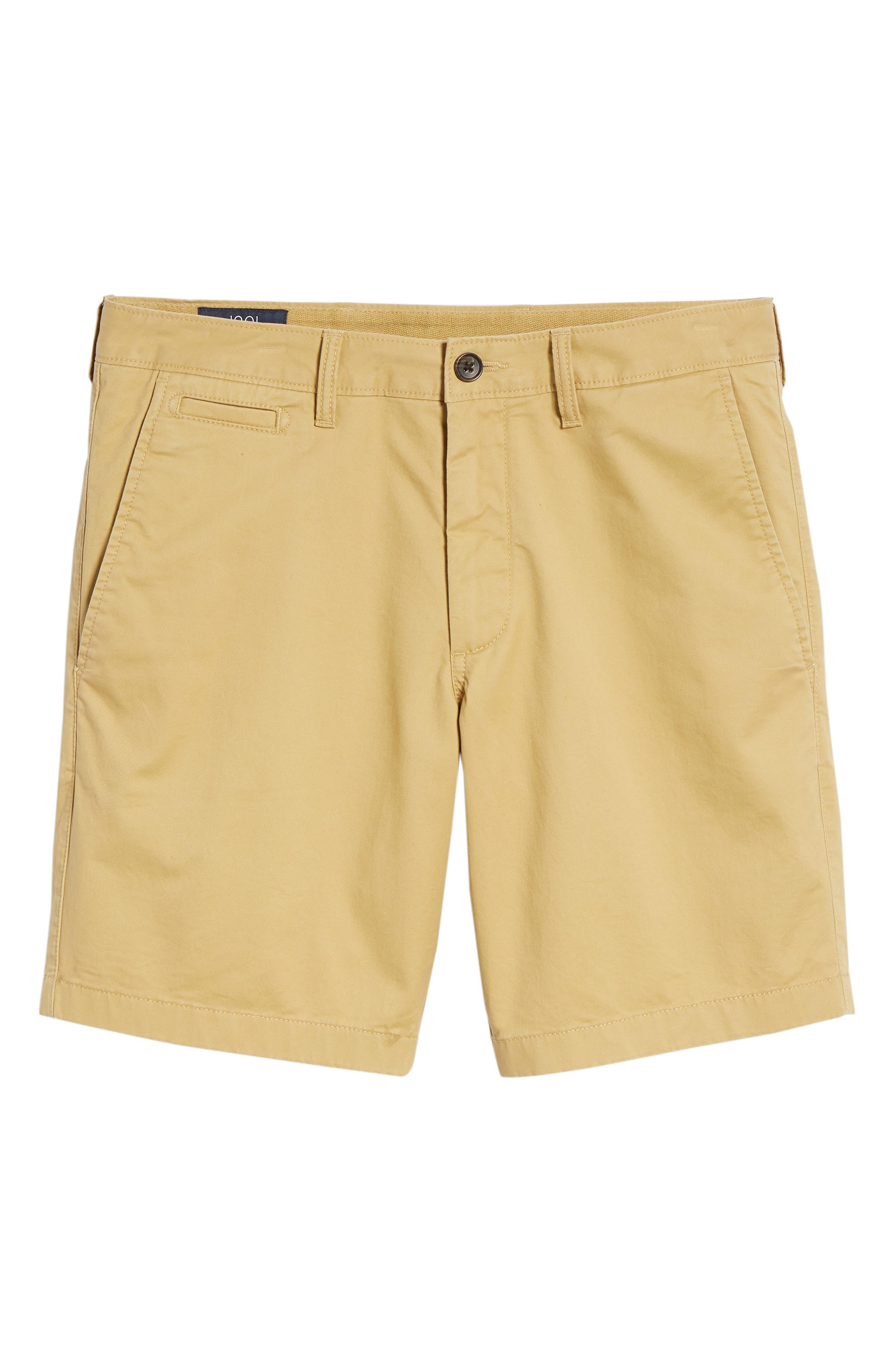 Ballard Slim Fit Stretch Chino 9-Inch Shorts,                             Alternate thumbnail 6, color,                             TAN LARK