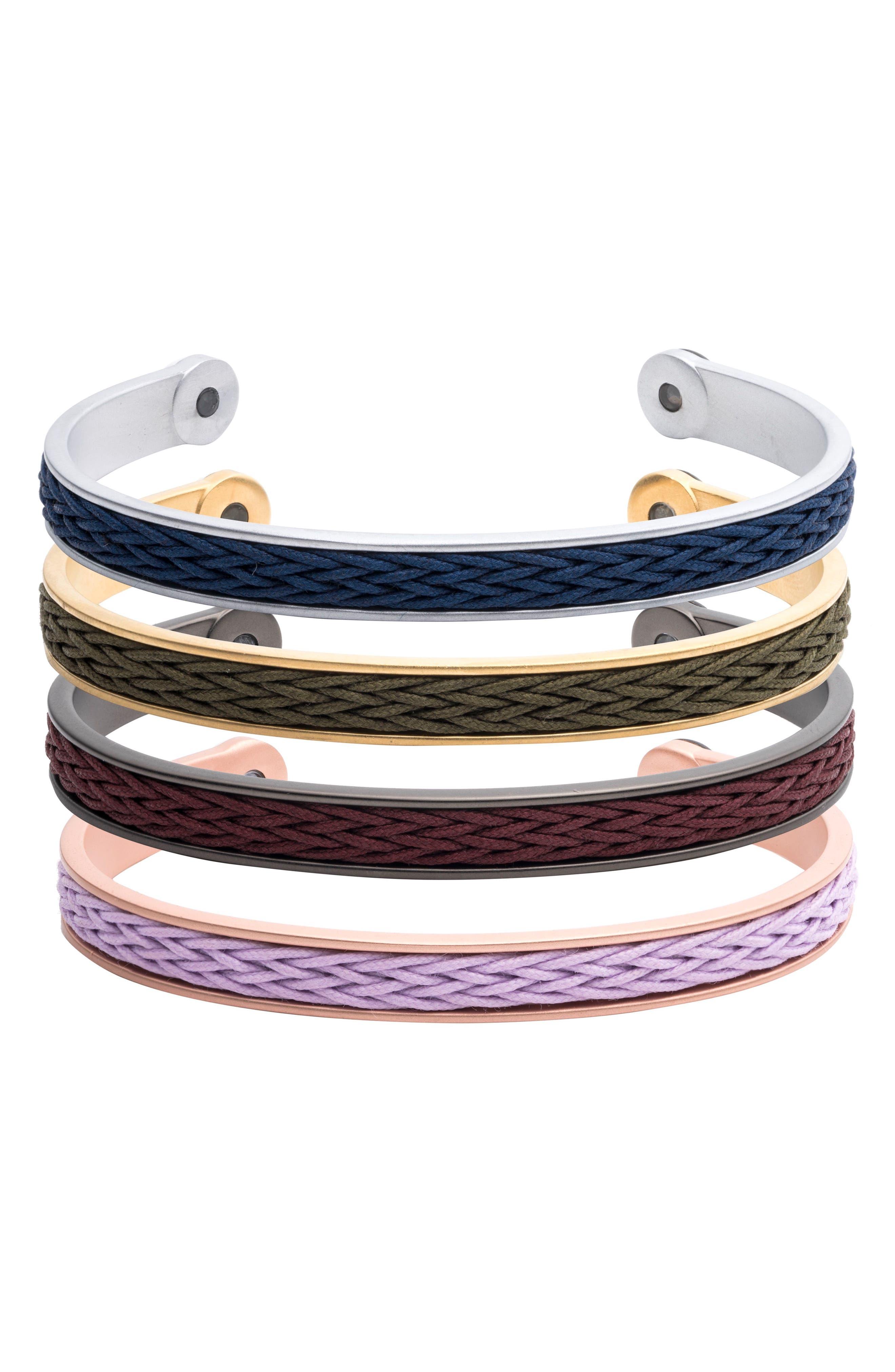 Braided Cuff Bracelet,                             Alternate thumbnail 15, color,